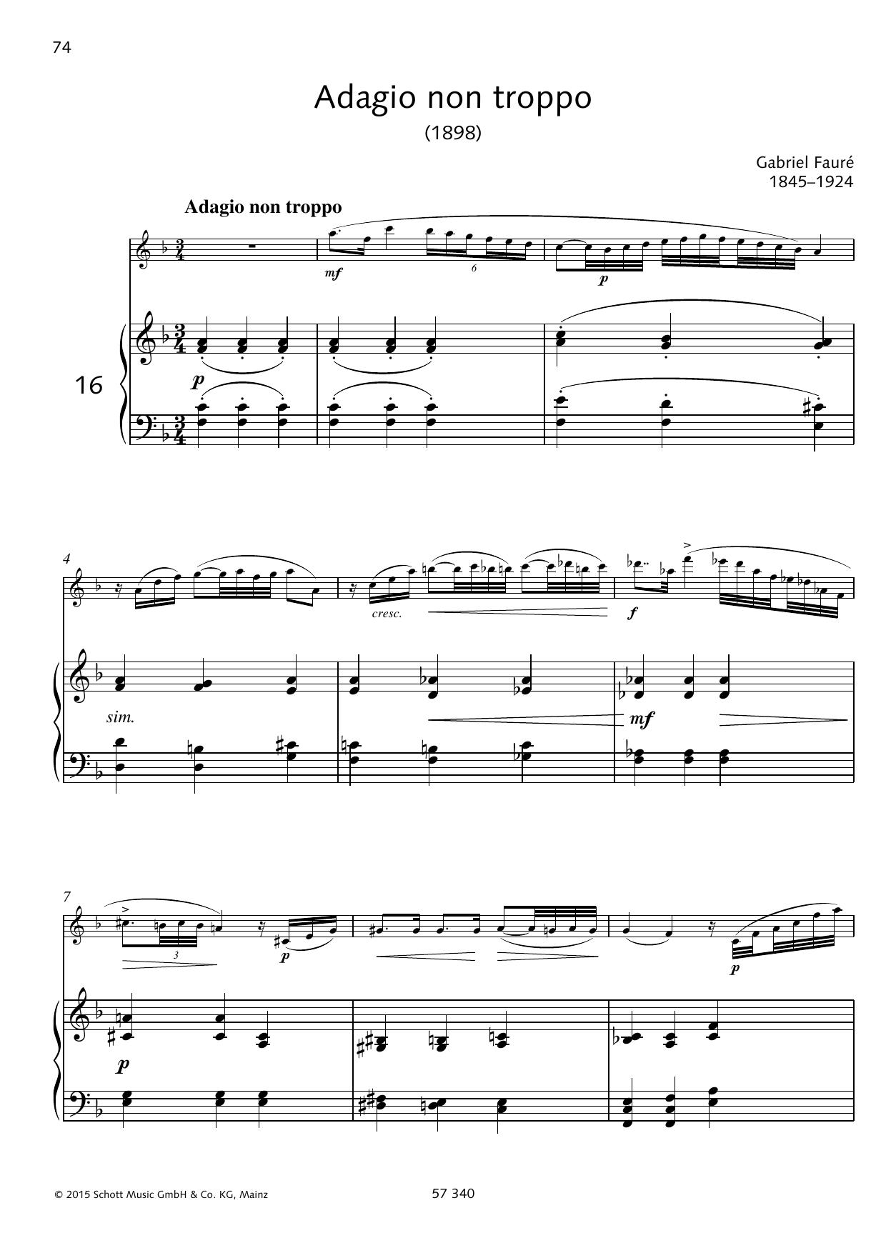 Adagio non troppo Sheet Music