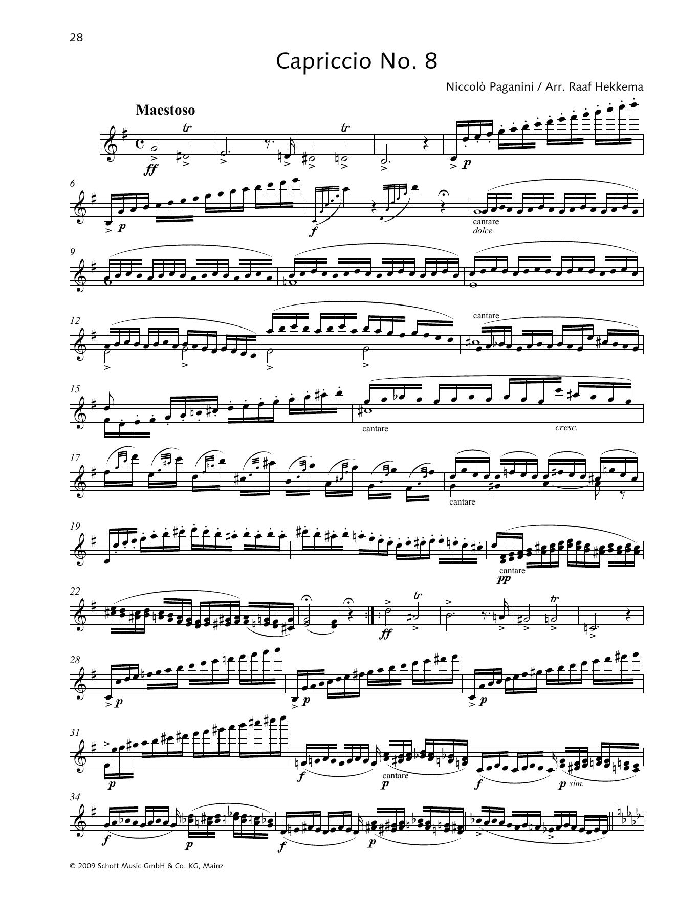 Capriccio No. 8 Sheet Music