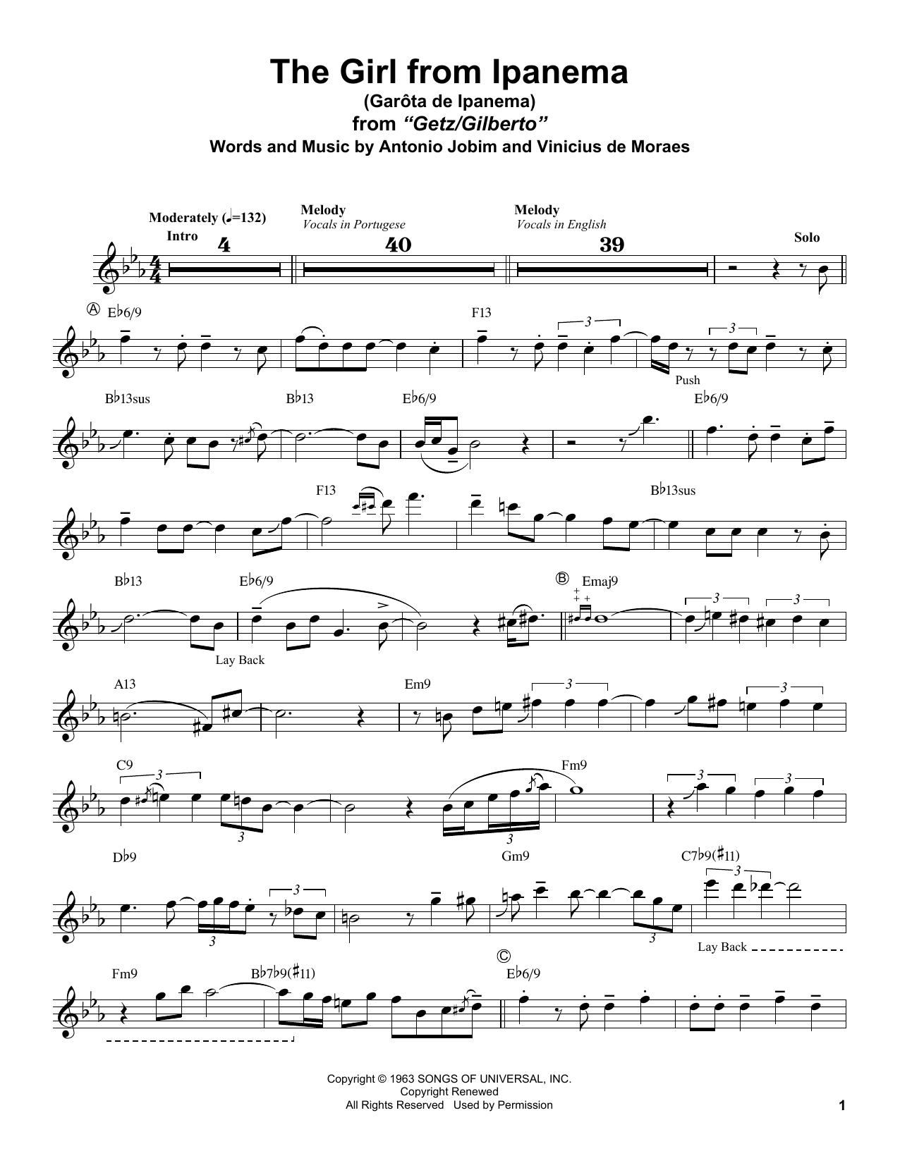 Garota De Ipanema (Tenor Sax Transcription)