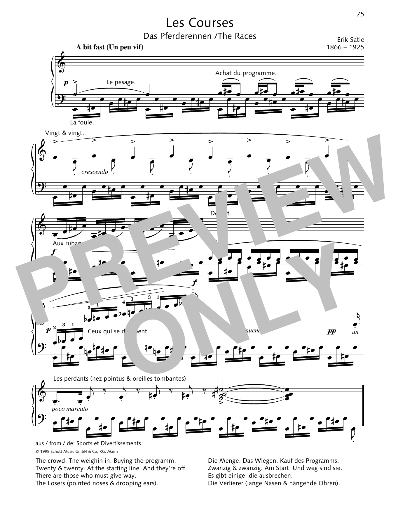 The Races Sheet Music