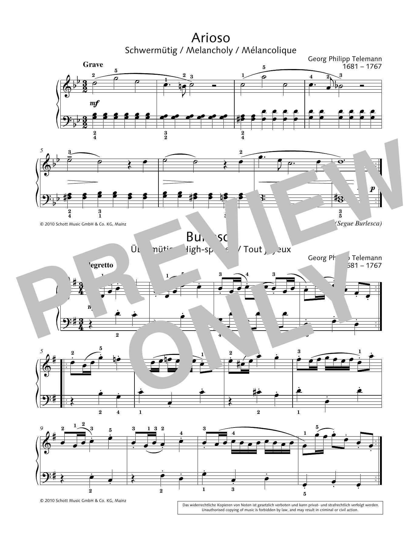 Arioso-Burlesca Sheet Music