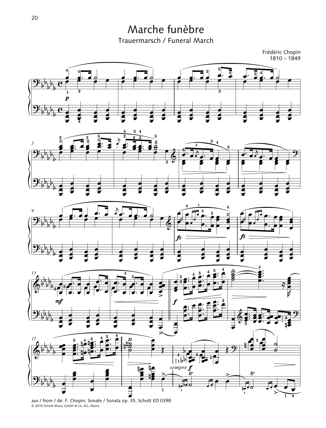 Marche Funebre Sheet Music