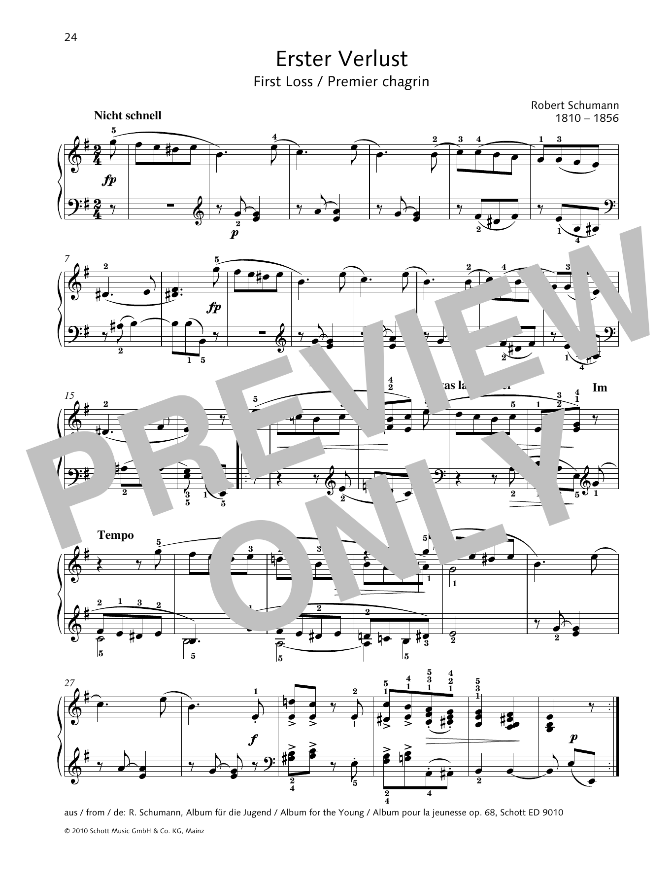 First Loss Sheet Music