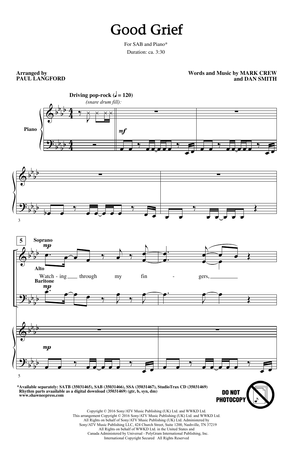 Good Grief (SAB Choir)
