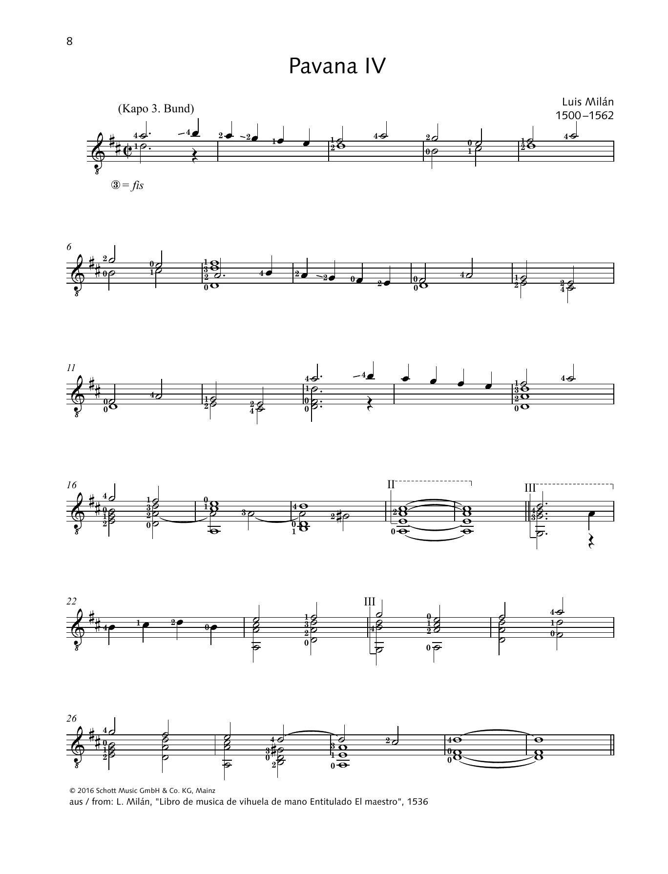 Pavana IV Sheet Music