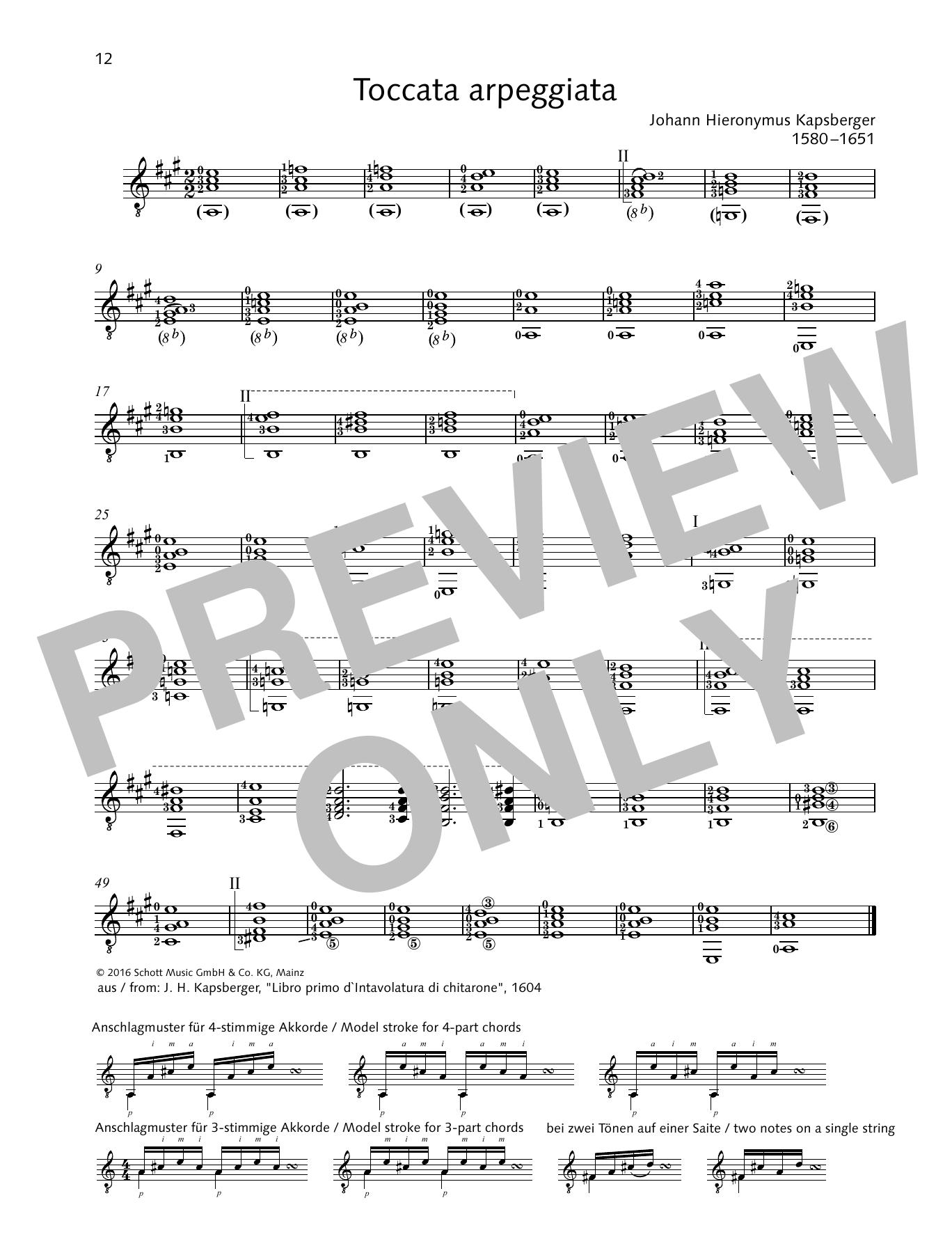 Toccata arpeggiata Sheet Music