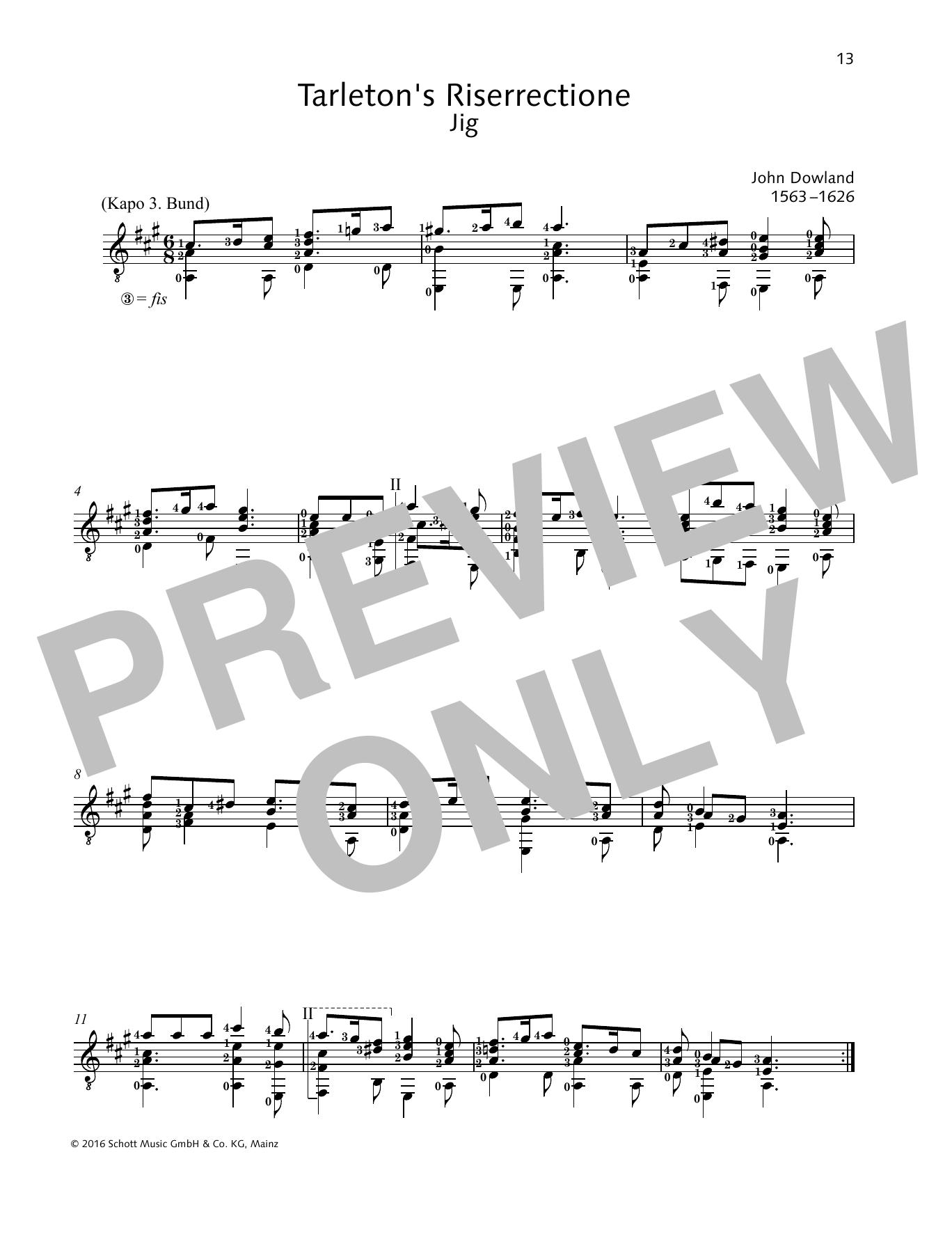 Tarleton's Riserrectione Sheet Music