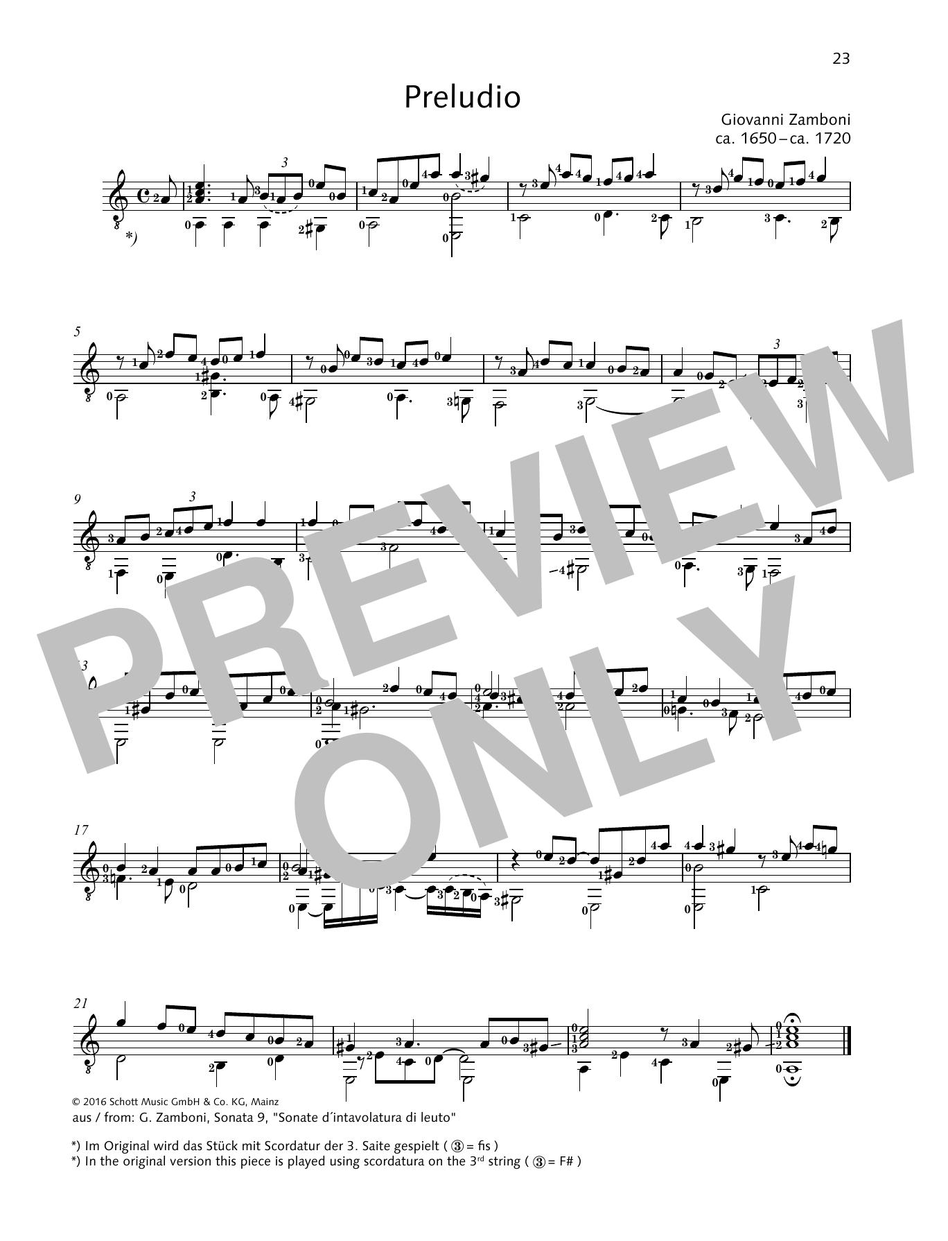 Preludio Sheet Music