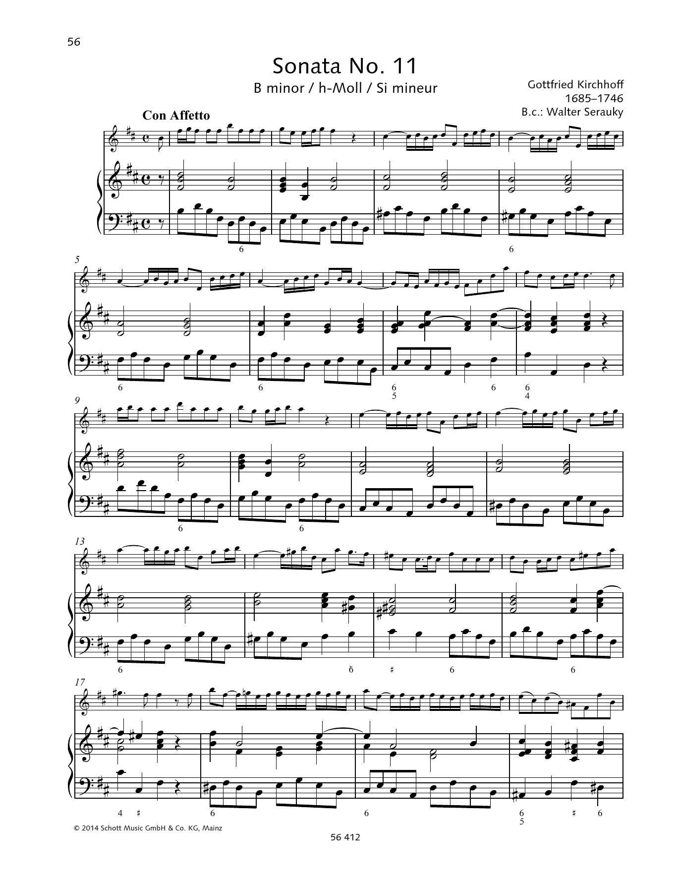 Sonata No. 11 B minor Sheet Music