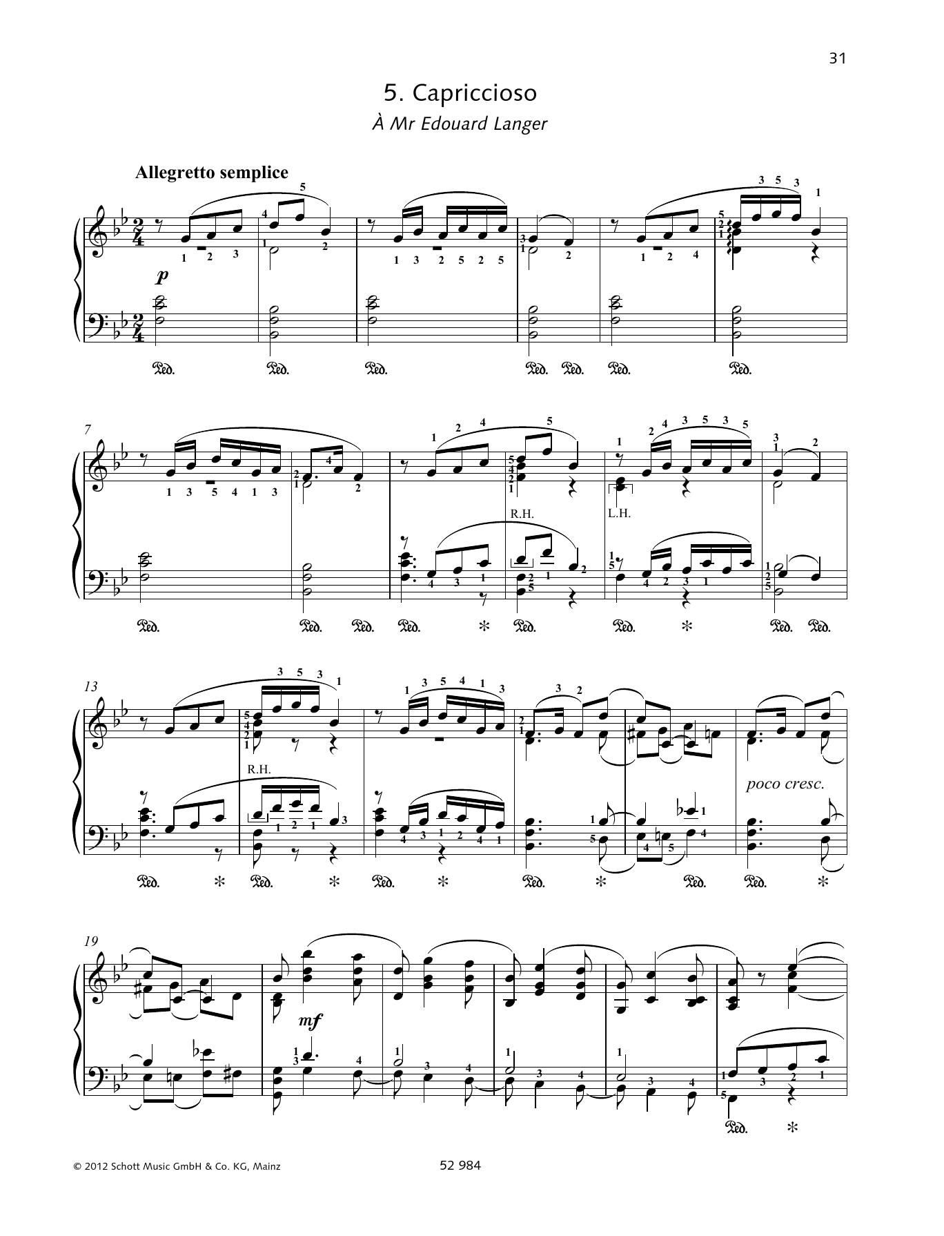 Capriccioso Sheet Music