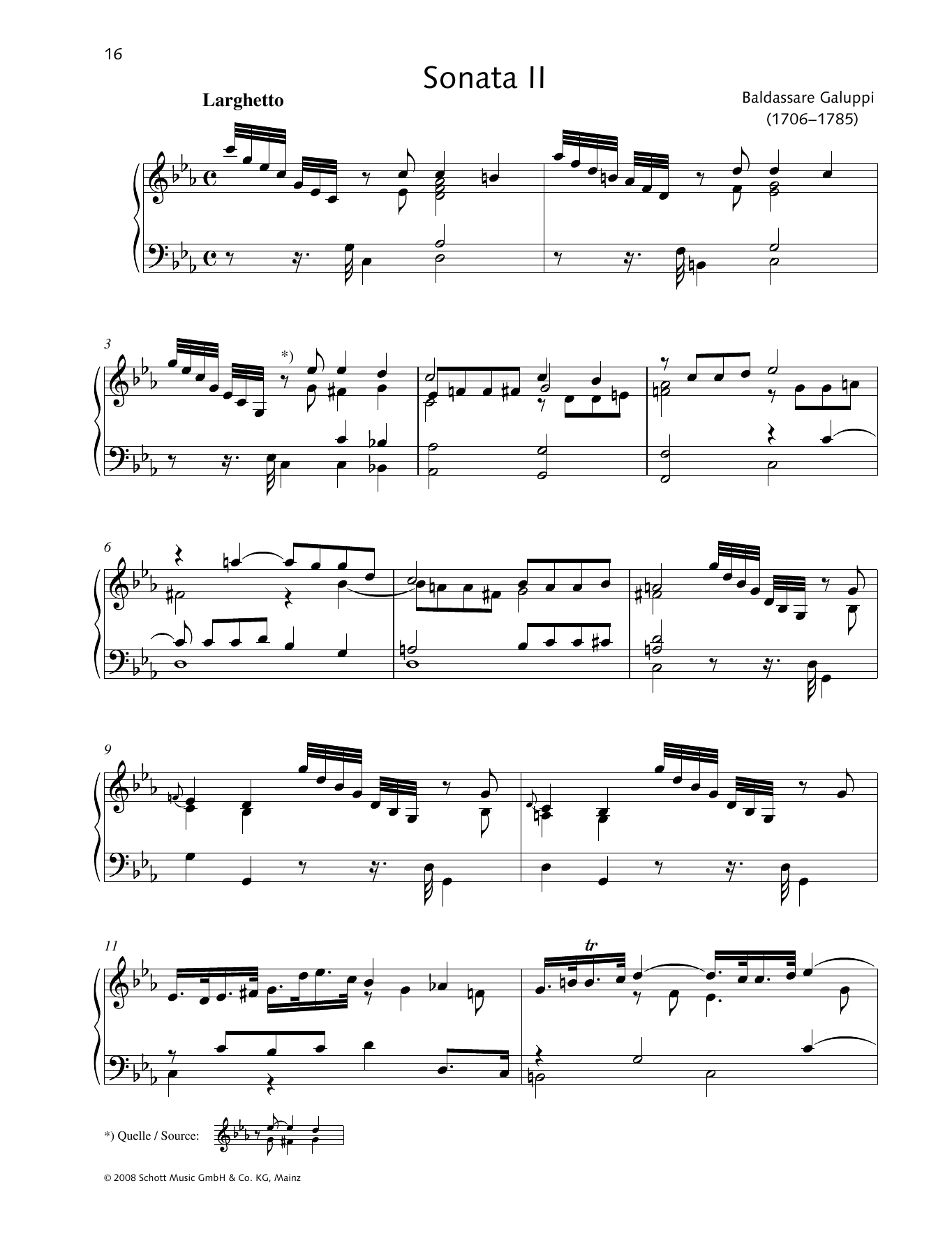 Sonata II C minor Sheet Music
