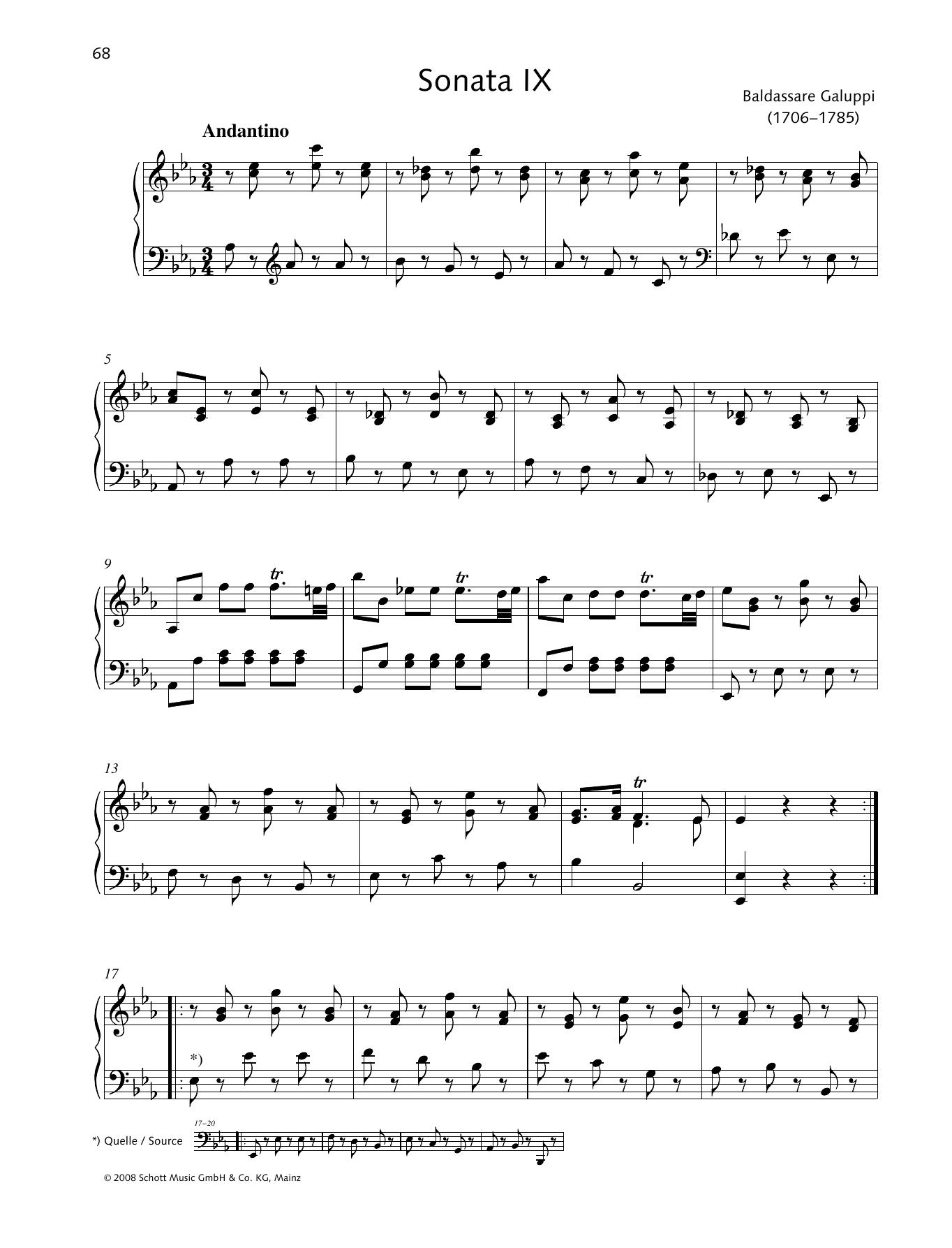 Sonata IX E-flat major Sheet Music