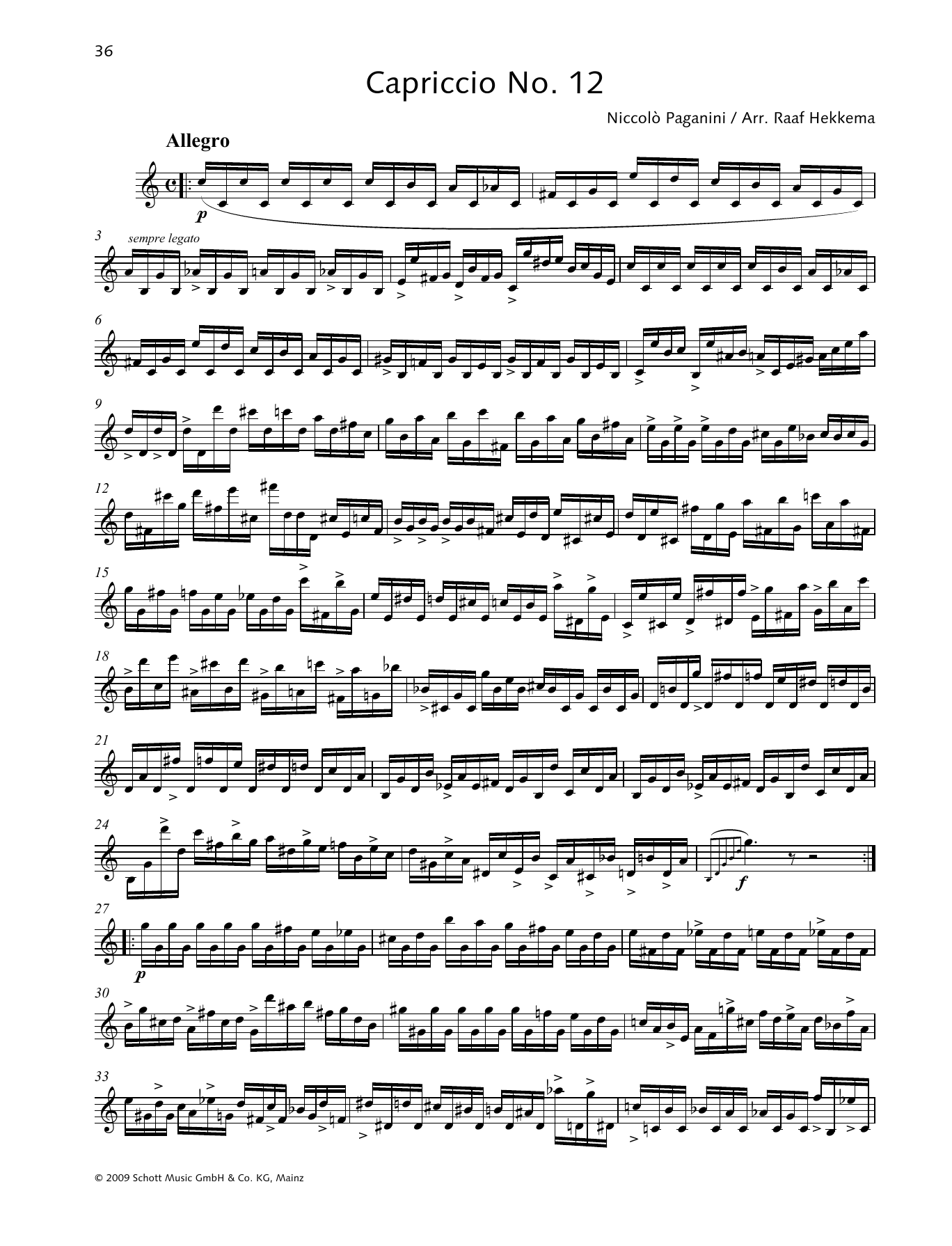 Capriccio No. 12 Sheet Music