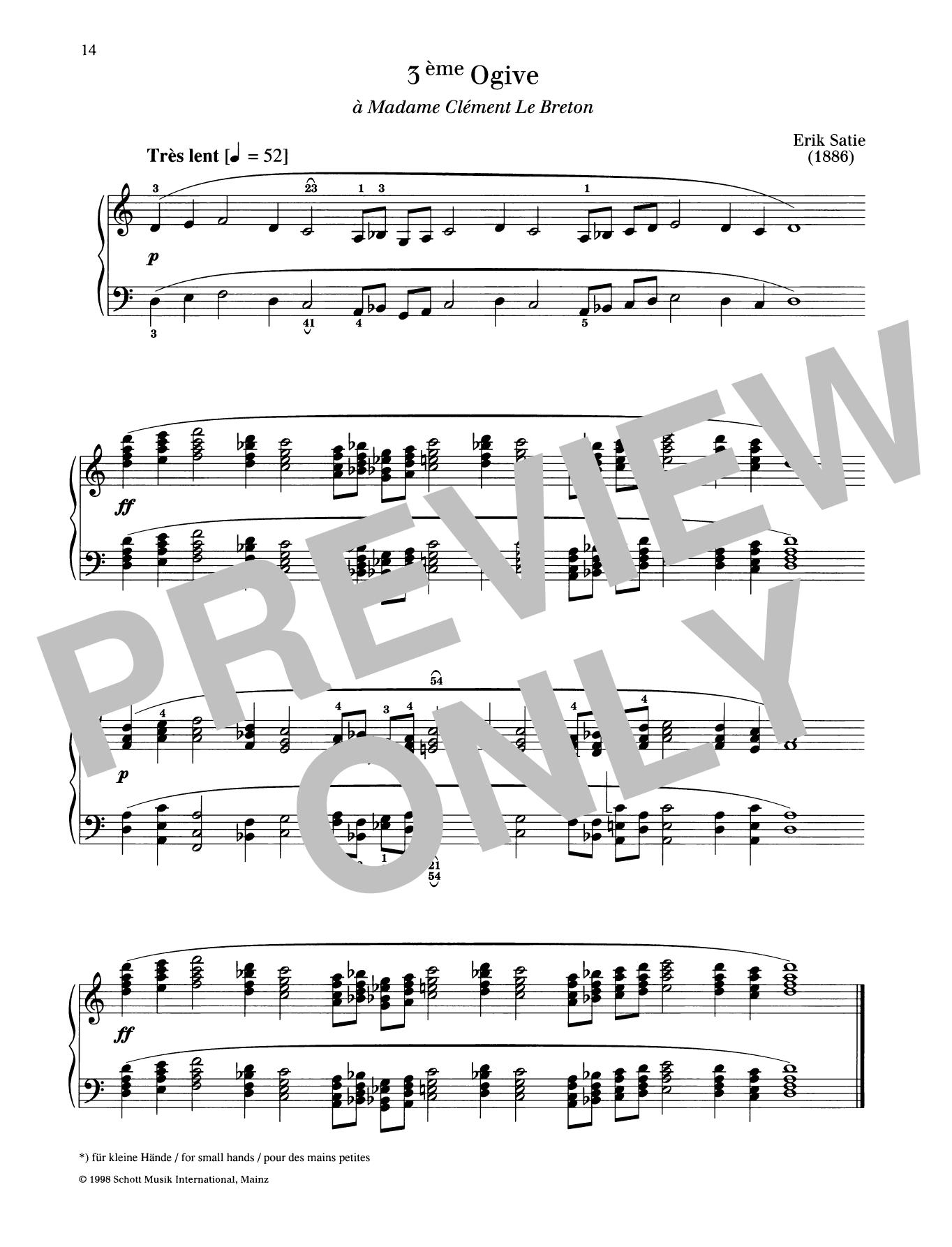 3ème Ogive Sheet Music