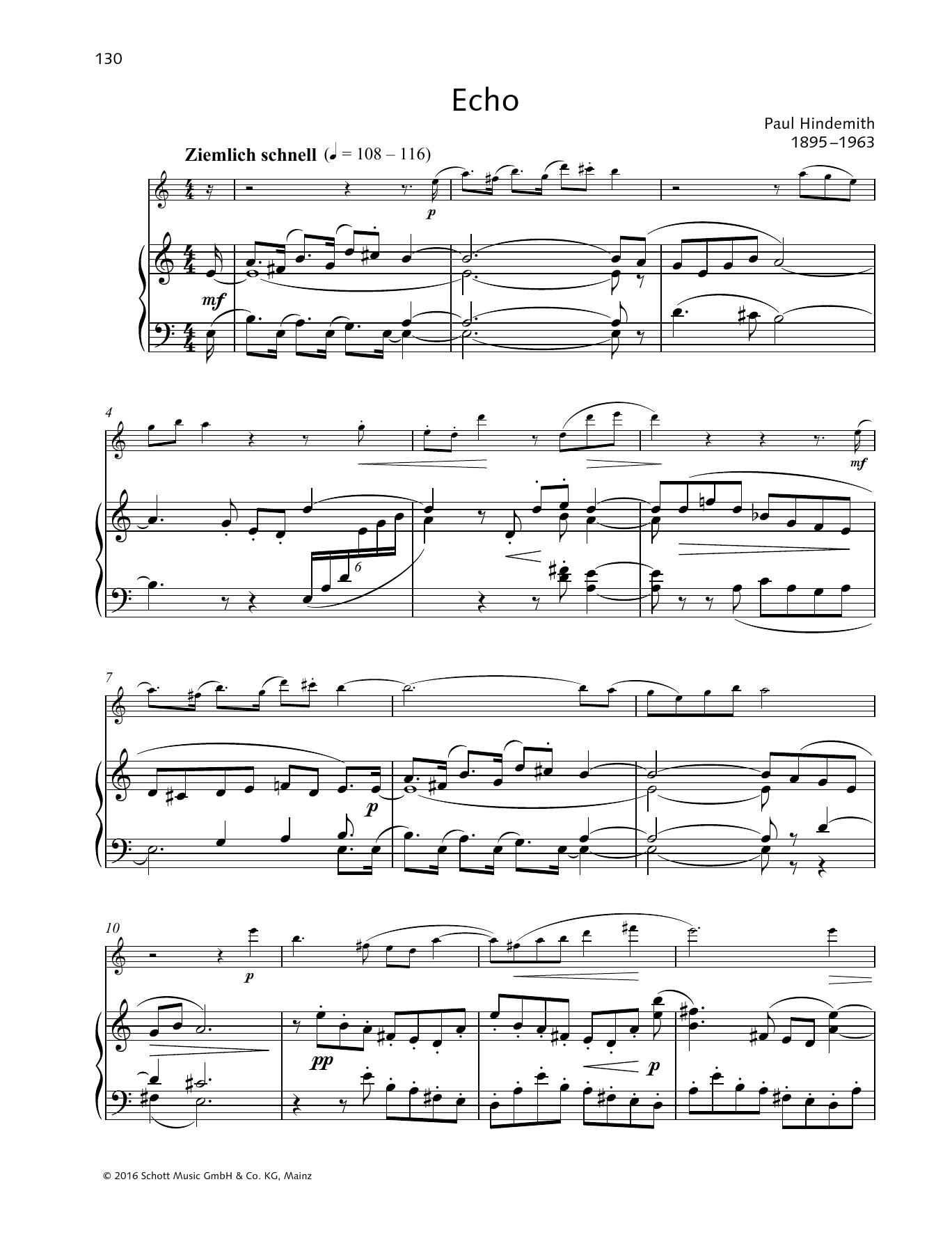 Echo Sheet Music