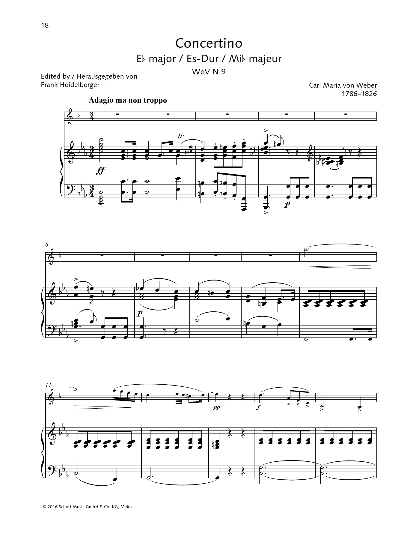 Concertino E-flat major Sheet Music