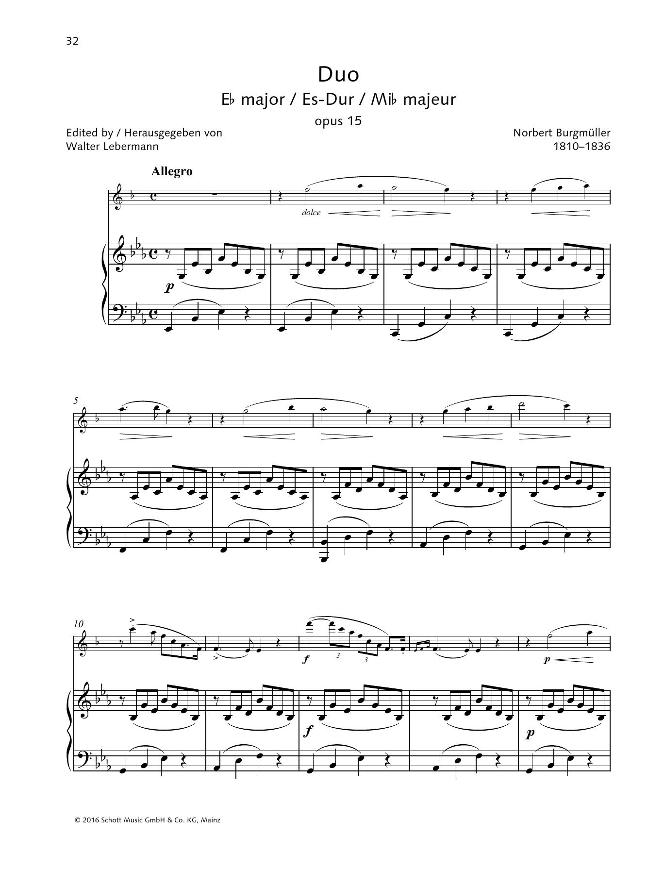 Duo E-flat major Sheet Music