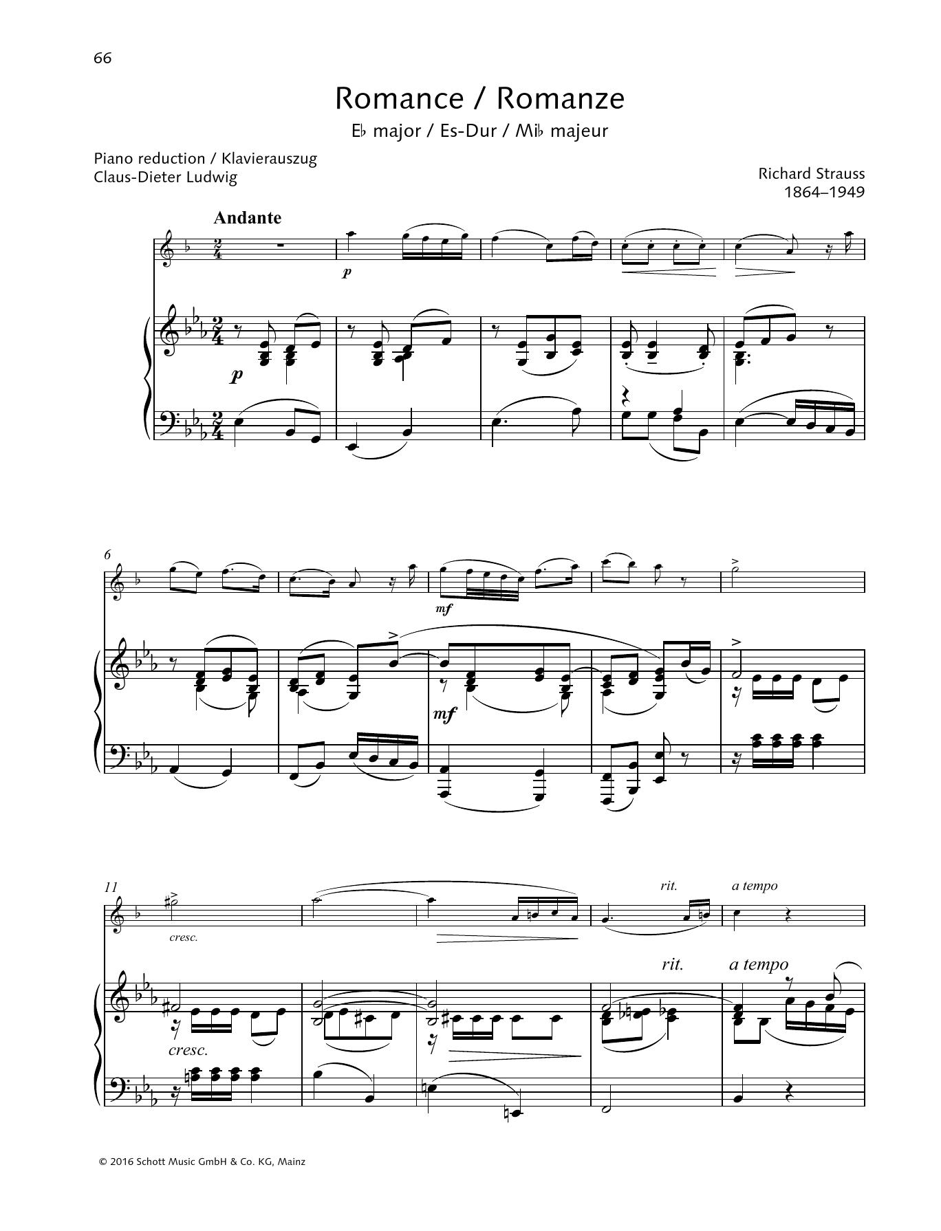Romance E-flat major Sheet Music