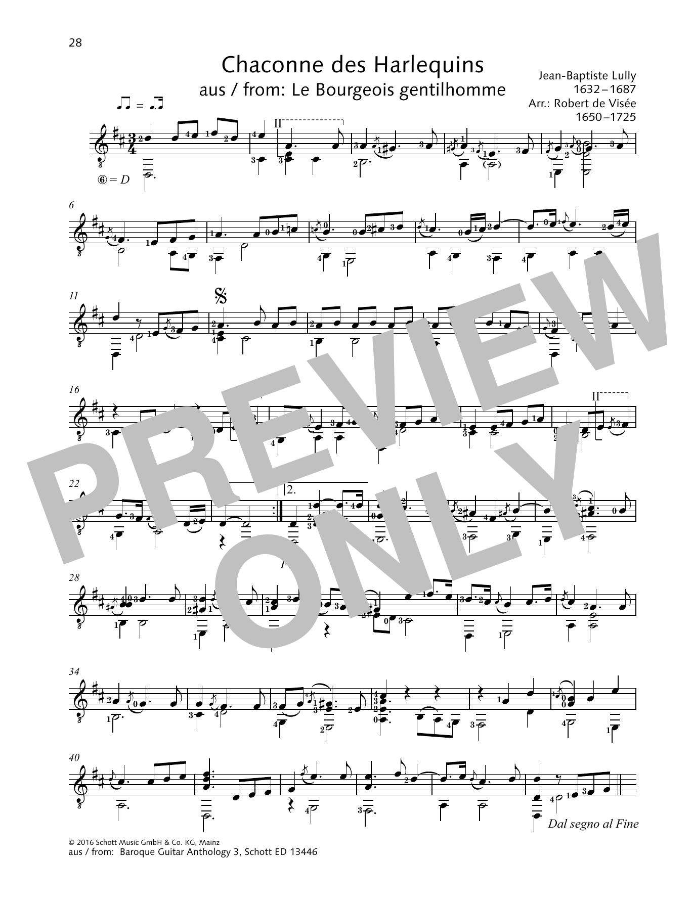 Chaconne des Harlequins Sheet Music