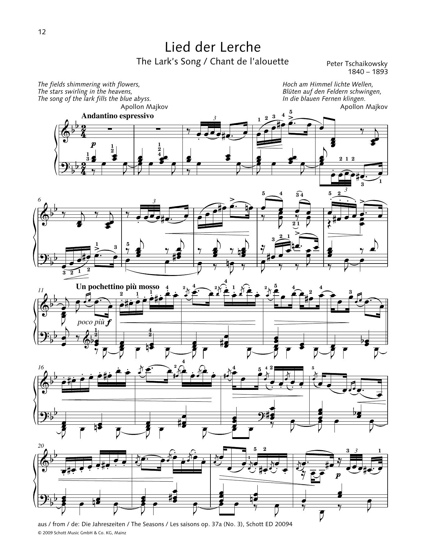 The Lark's Song Sheet Music