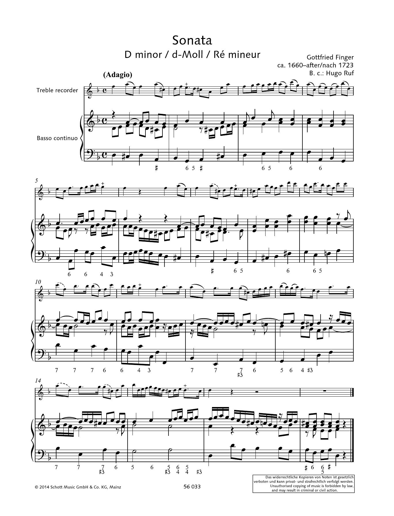 Sonata D Minor Partition Digitale