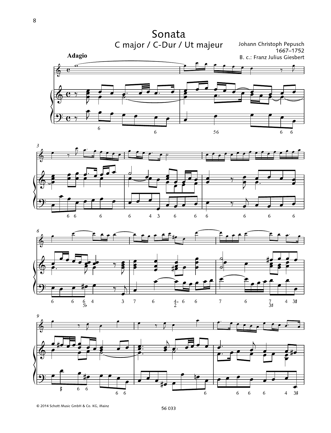 Sonata C Major Sheet Music