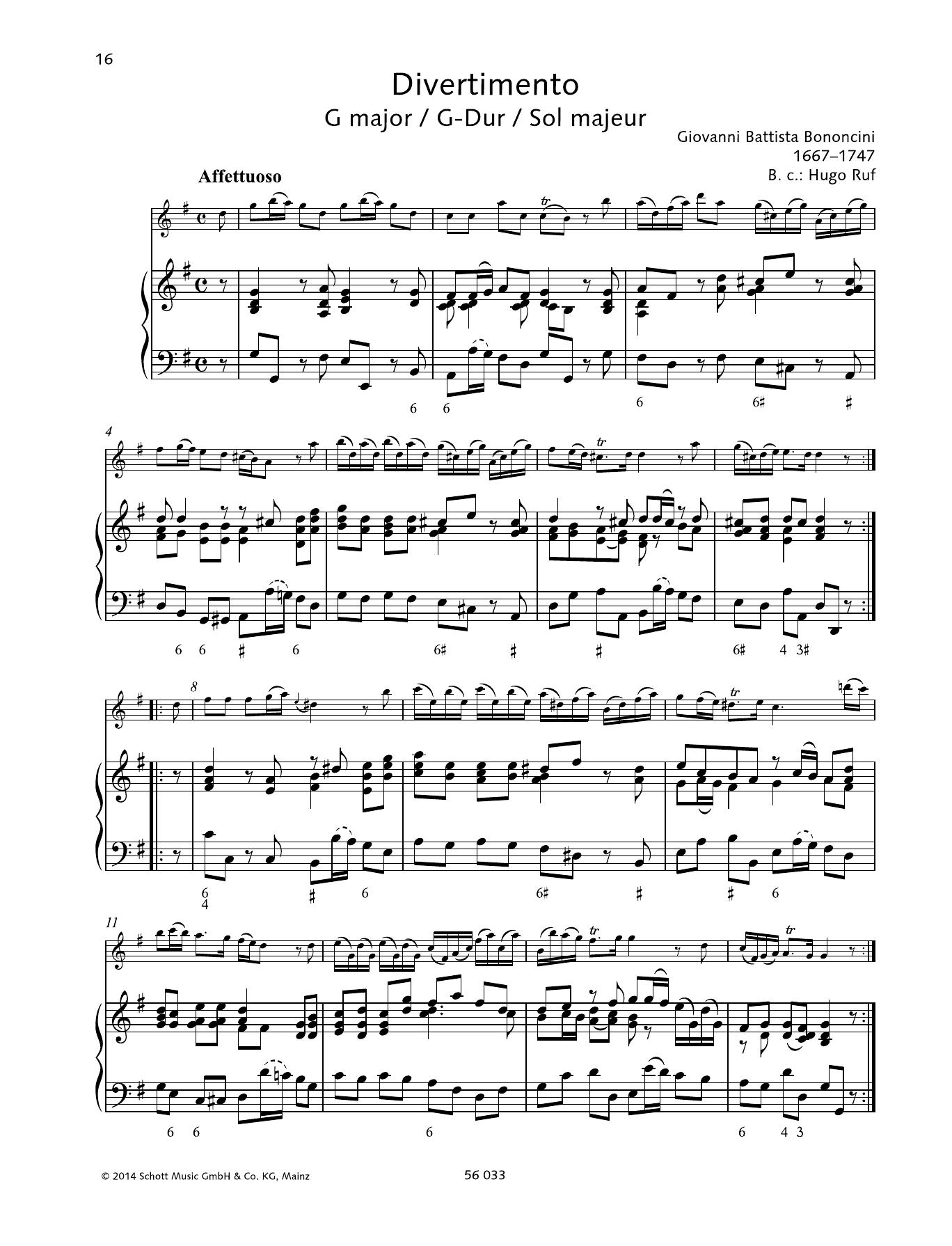 Divertimento G major Sheet Music