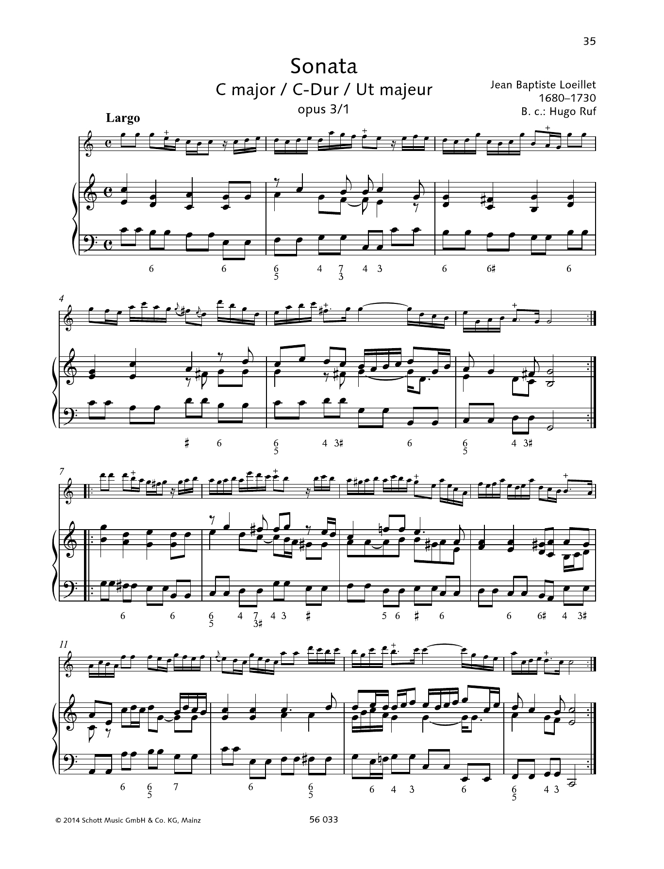 Sonata C Major Sheet Music