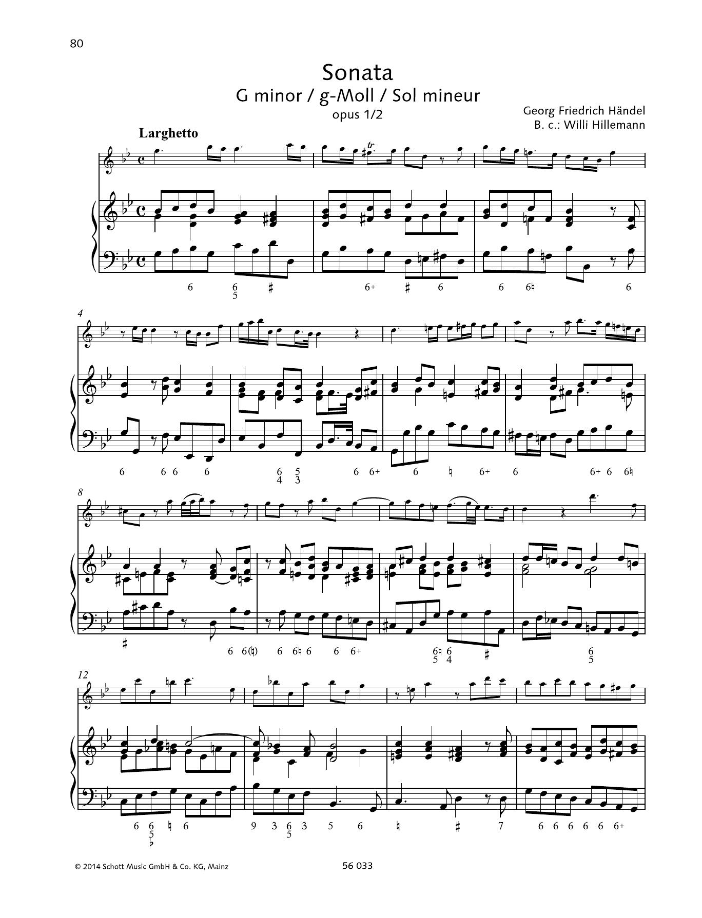 Sonata G minor Sheet Music
