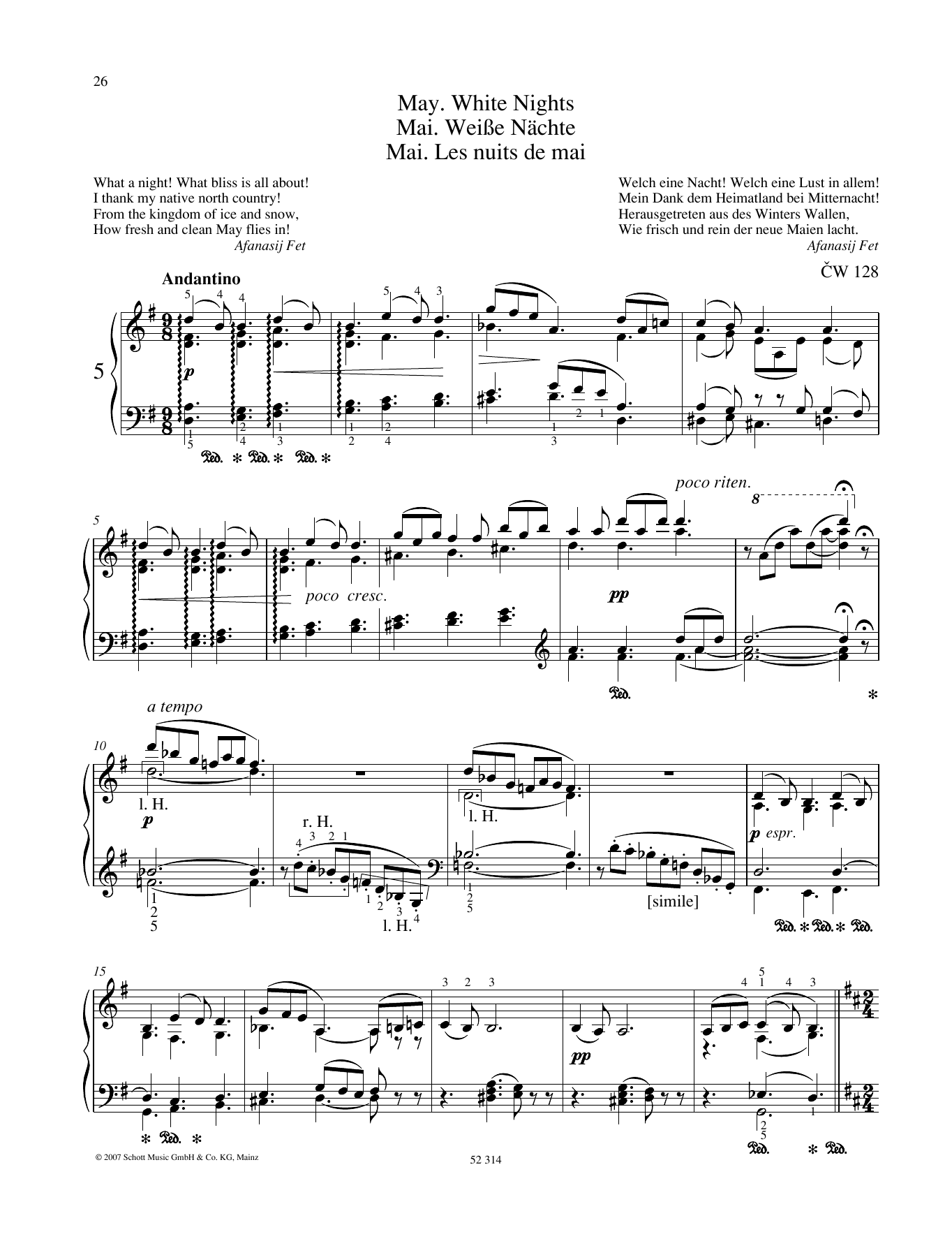 May Sheet Music