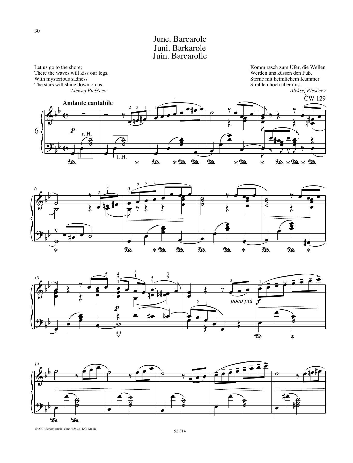 June Sheet Music