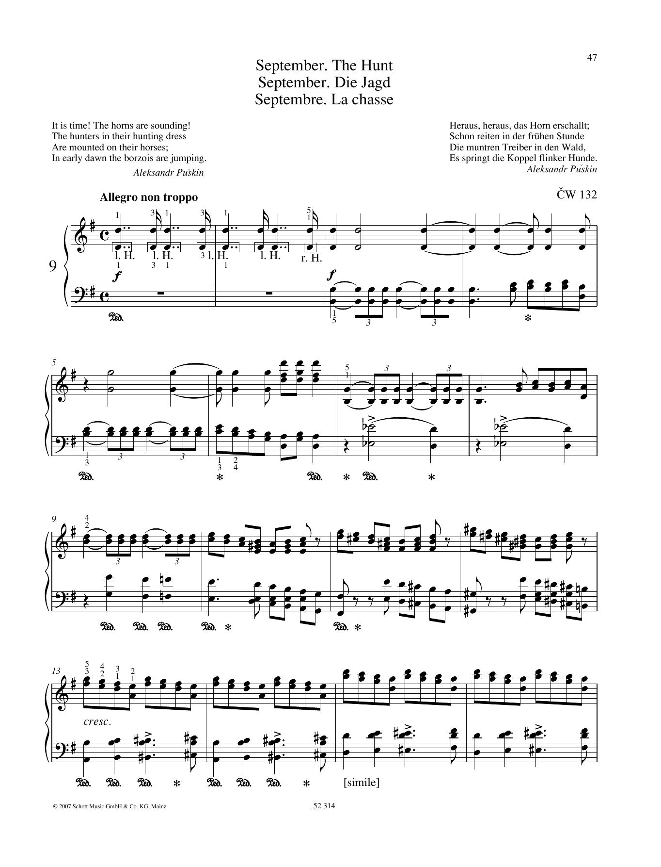 September Sheet Music