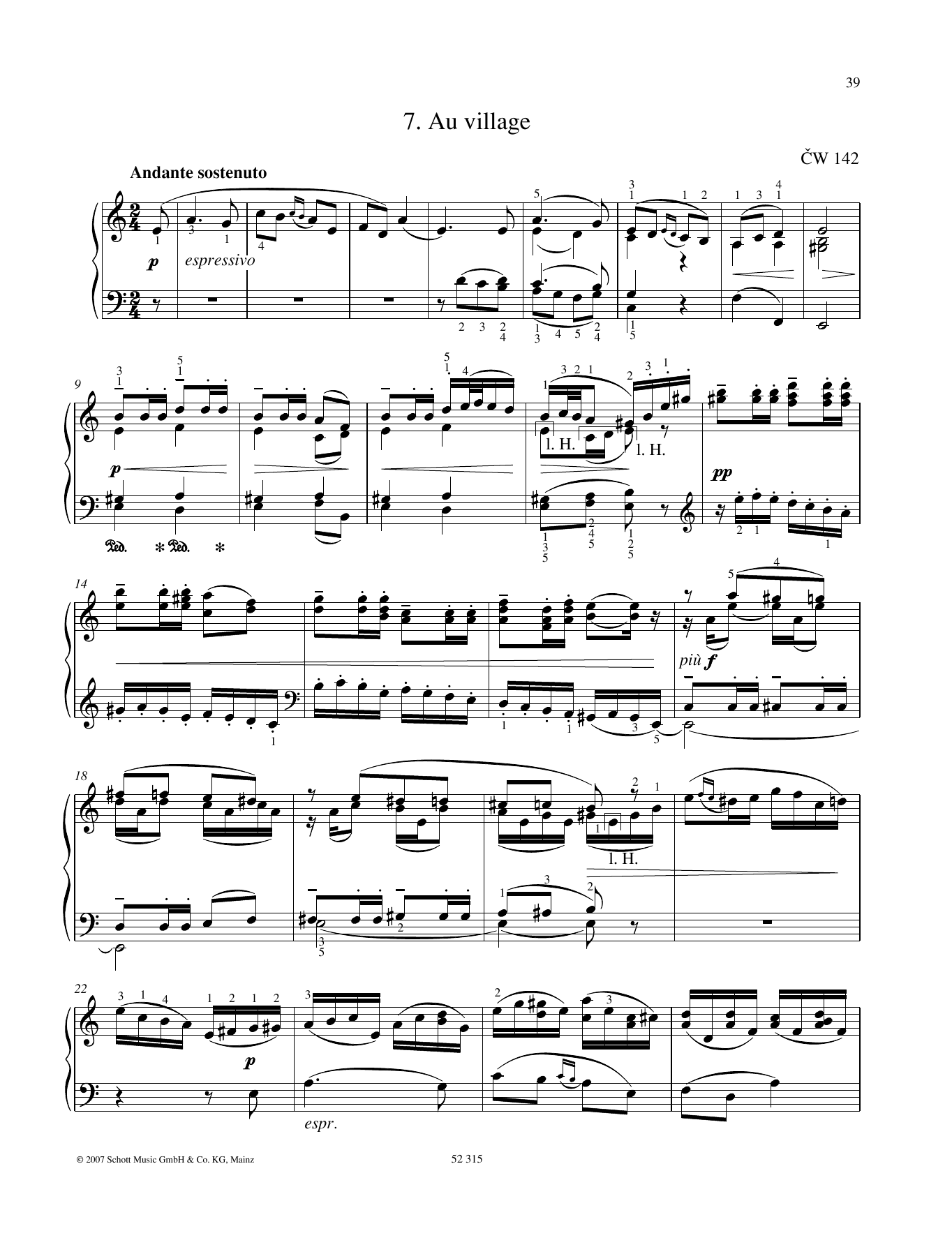 Au village Sheet Music