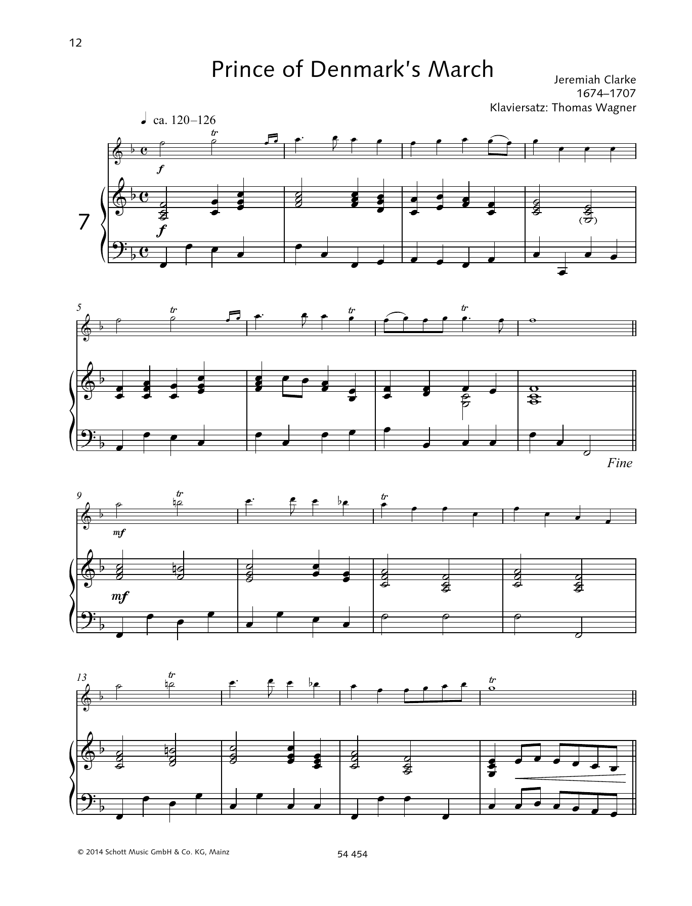 Prince of Denmark's March Sheet Music