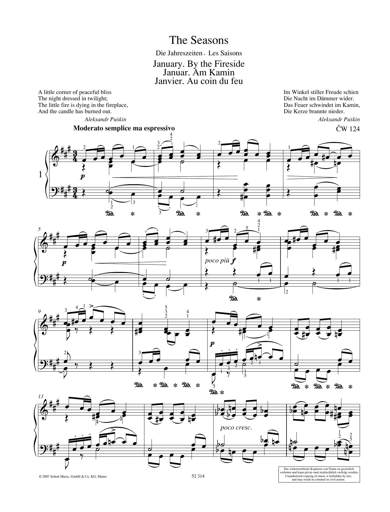 January Sheet Music