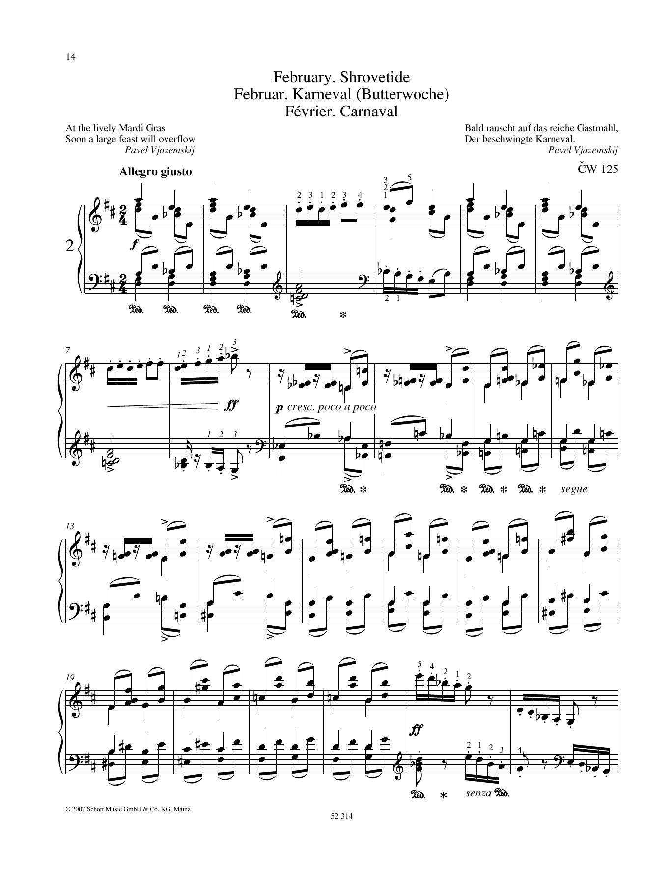 February Sheet Music
