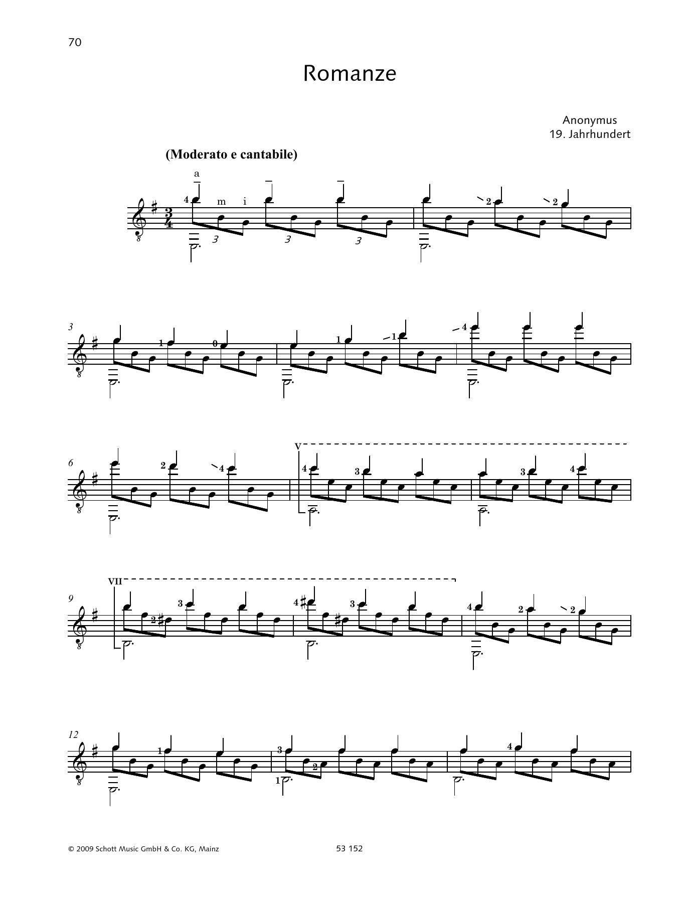 Romanze Sheet Music