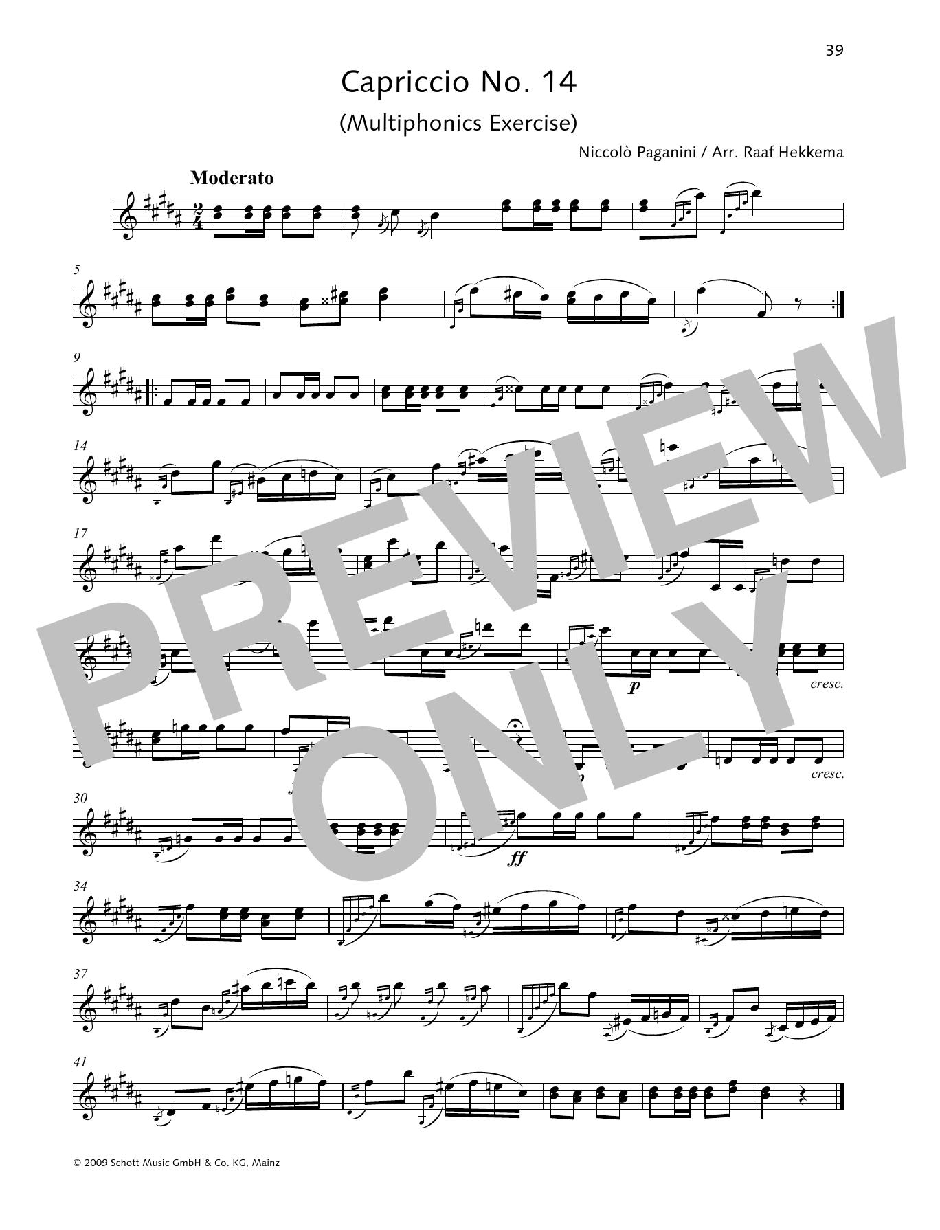 Capriccio No. 14 Sheet Music