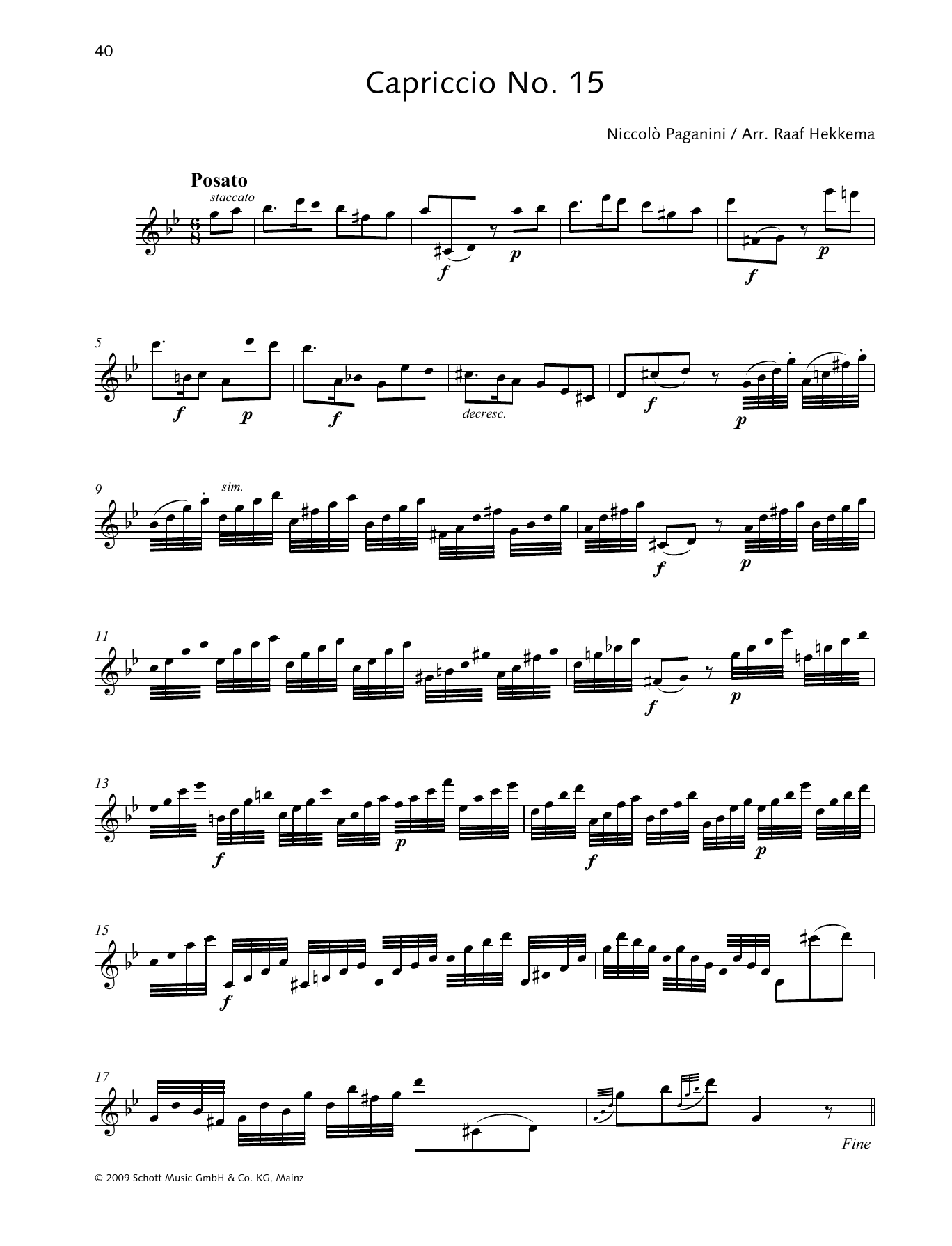 Capriccio No. 15 Sheet Music