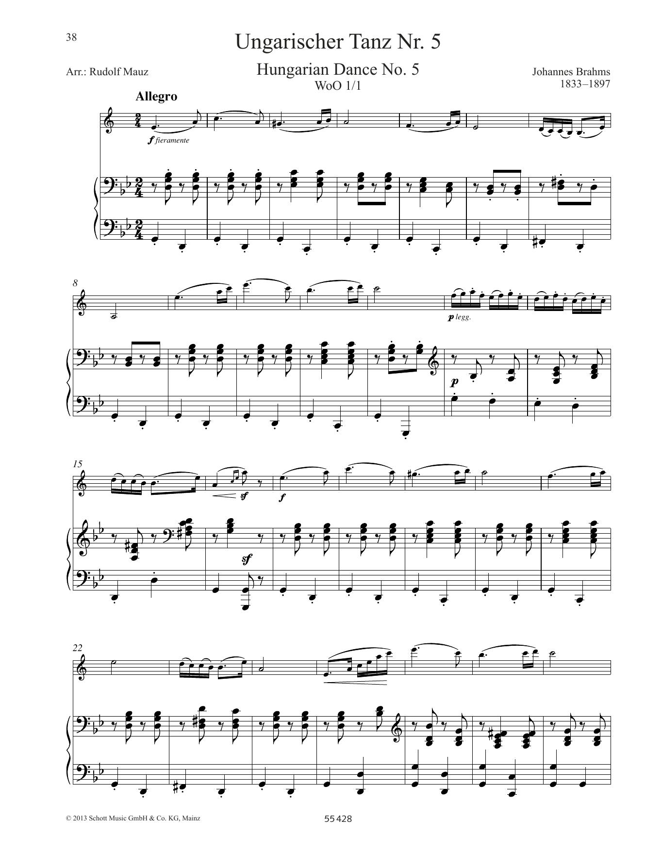Hungarian Dance No. 5 Sheet Music