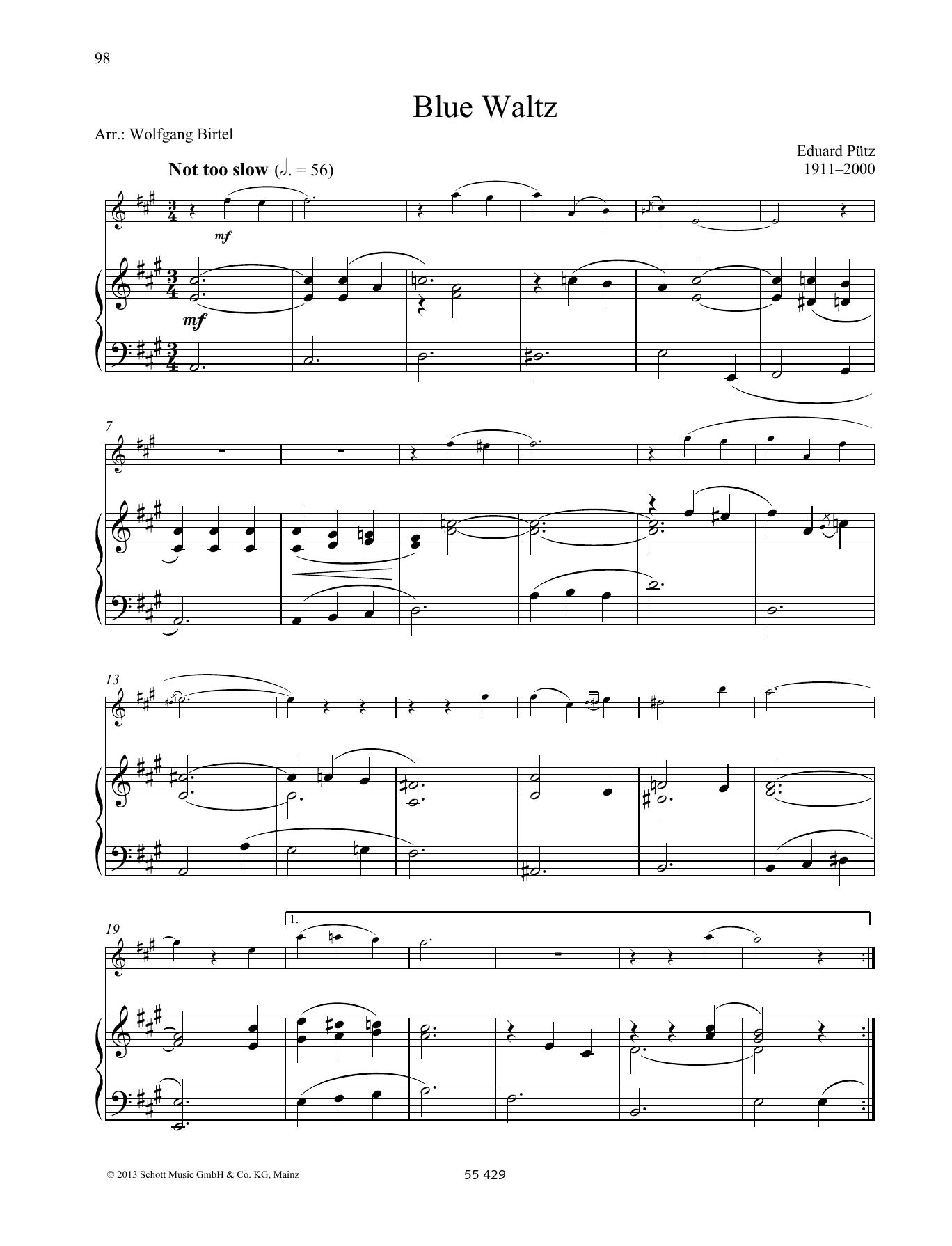 Blue Waltz Sheet Music