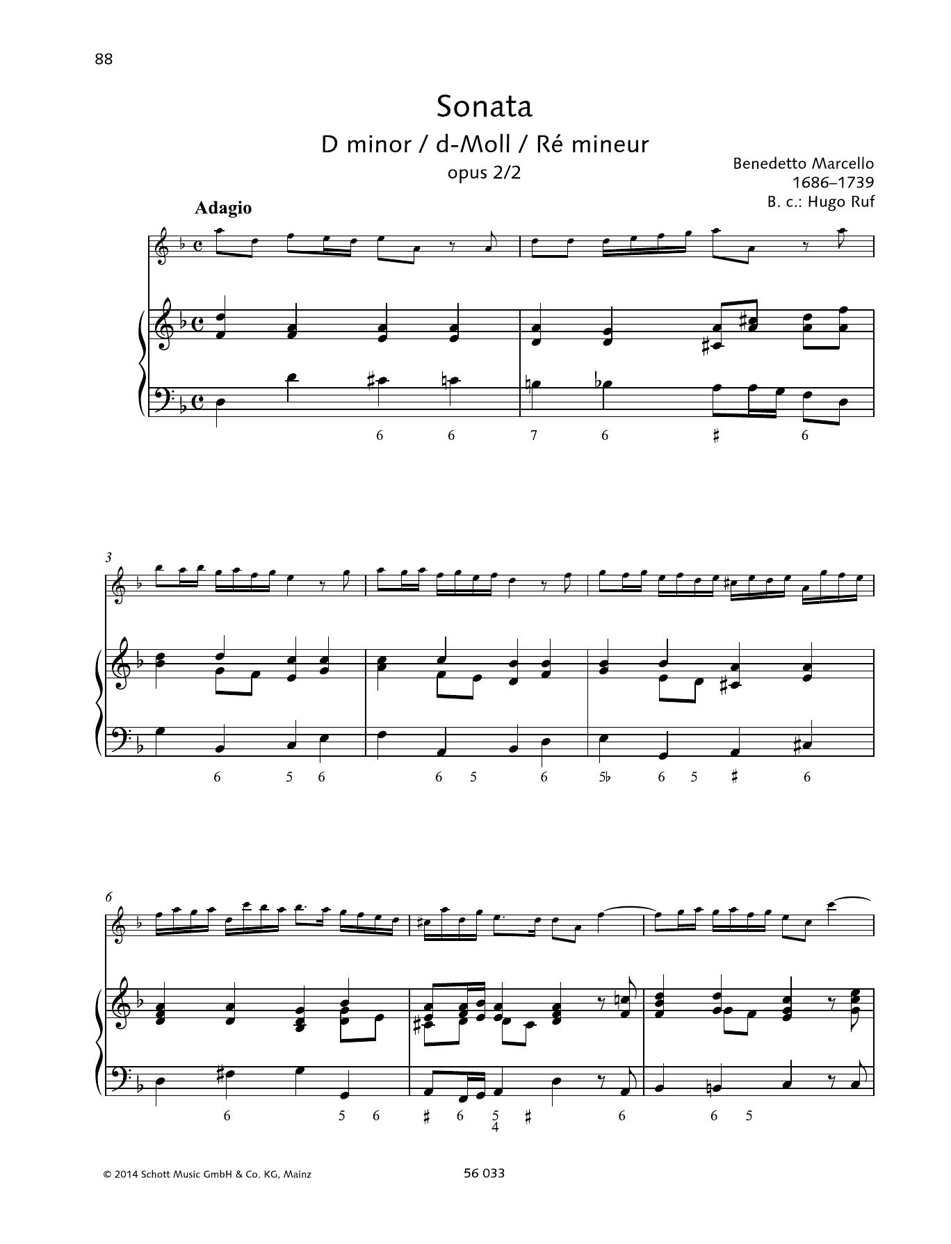 Sonata D Minor Sheet Music