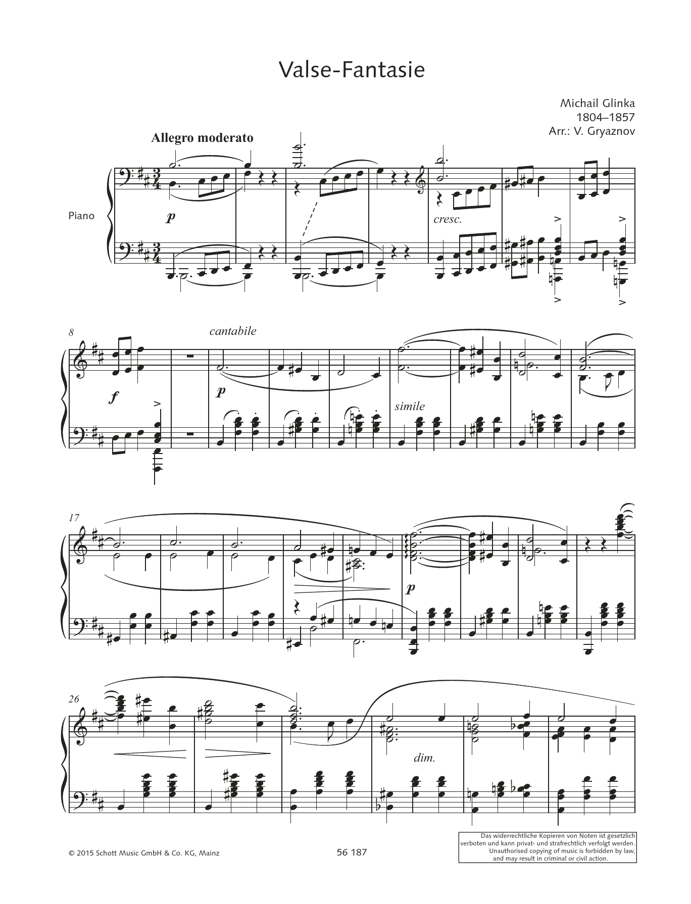 Valse-Fantasie Sheet Music