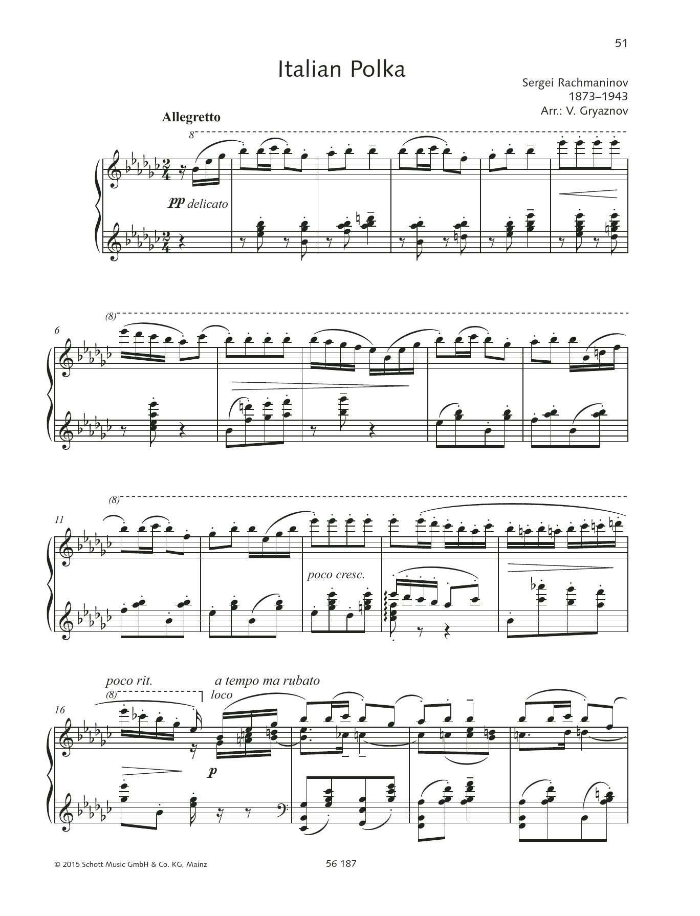 Italienische Polka Sheet Music