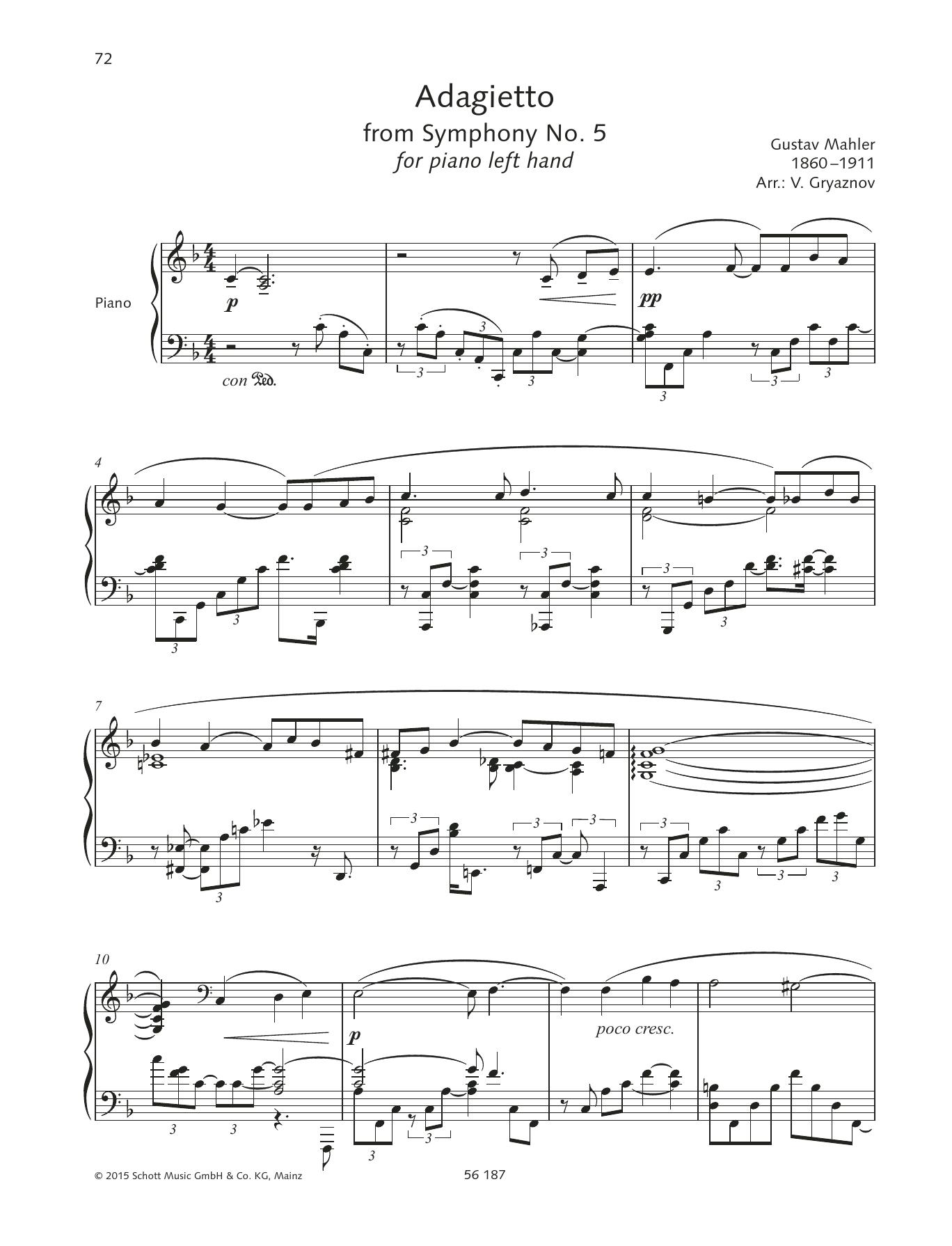 Adagietto Sheet Music