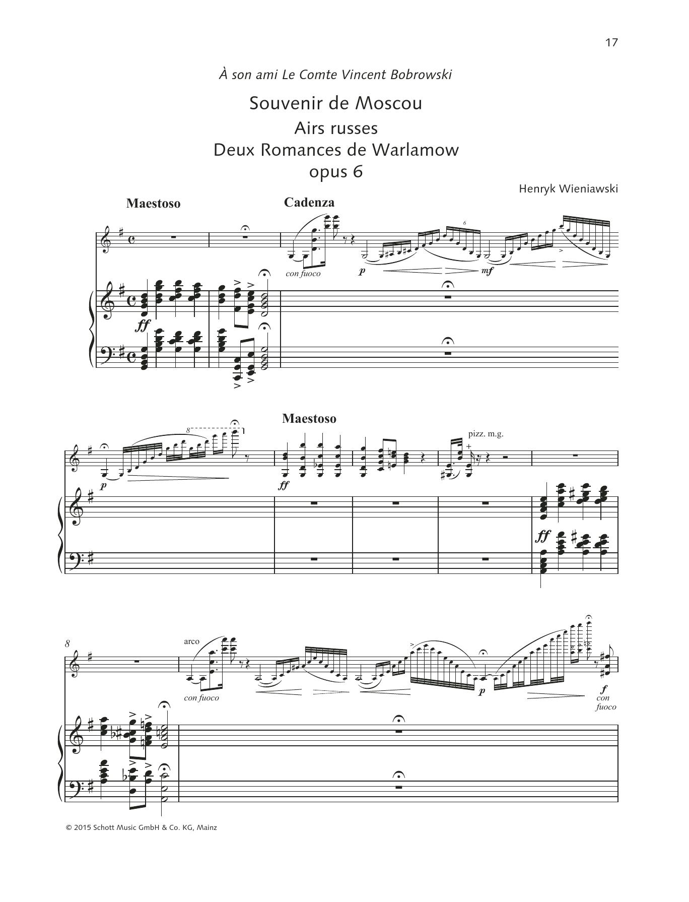 Souvenir de Moscou/Airs russes Sheet Music