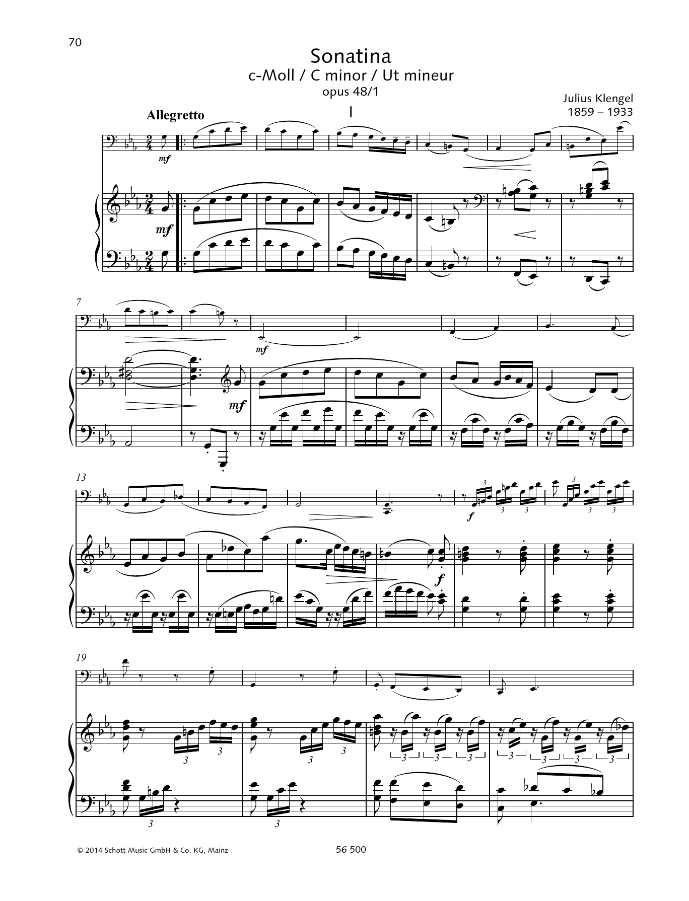 Sonatina C minor Sheet Music