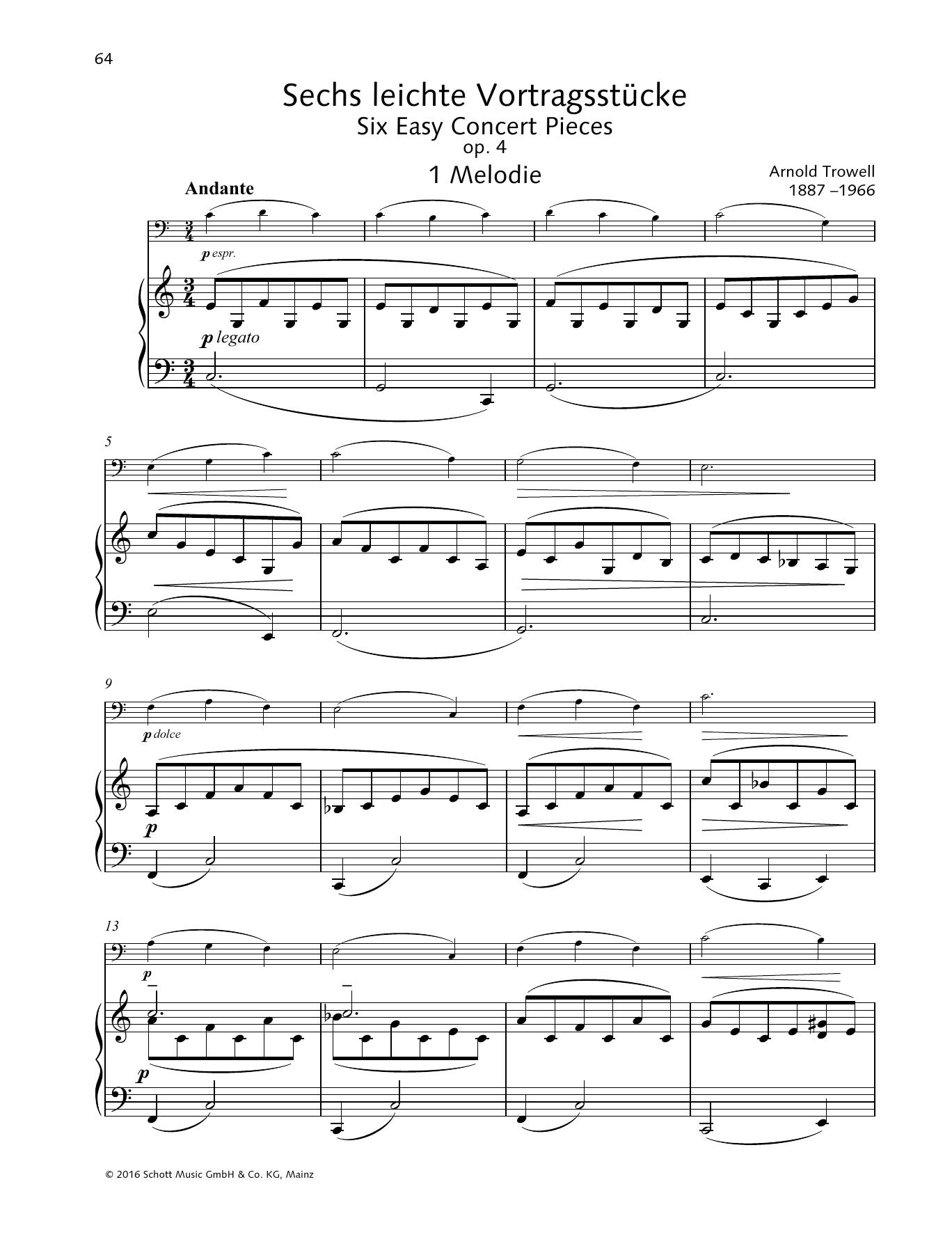 Melodie Sheet Music
