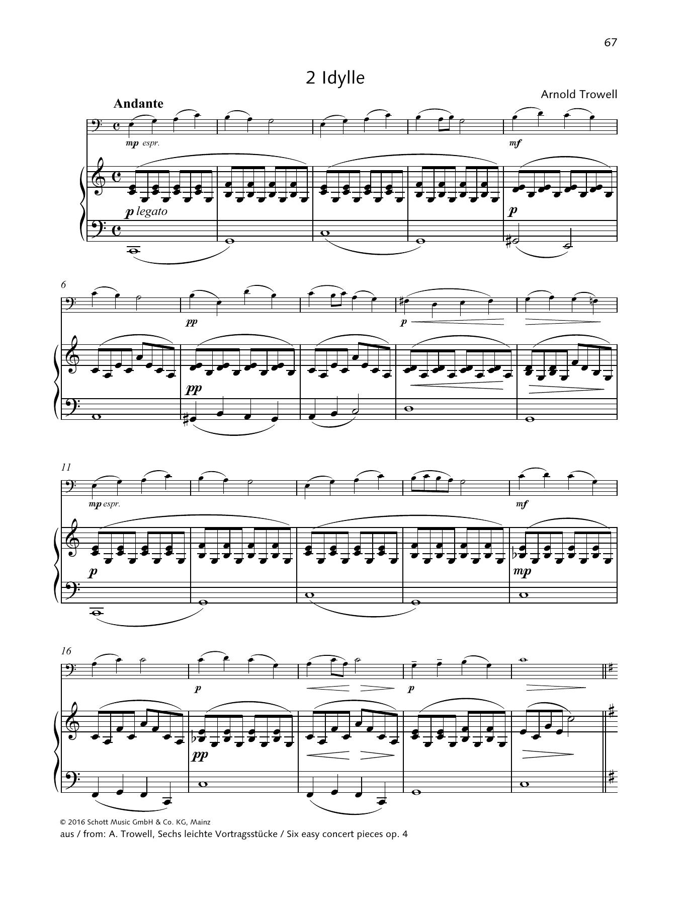 Idylle Sheet Music