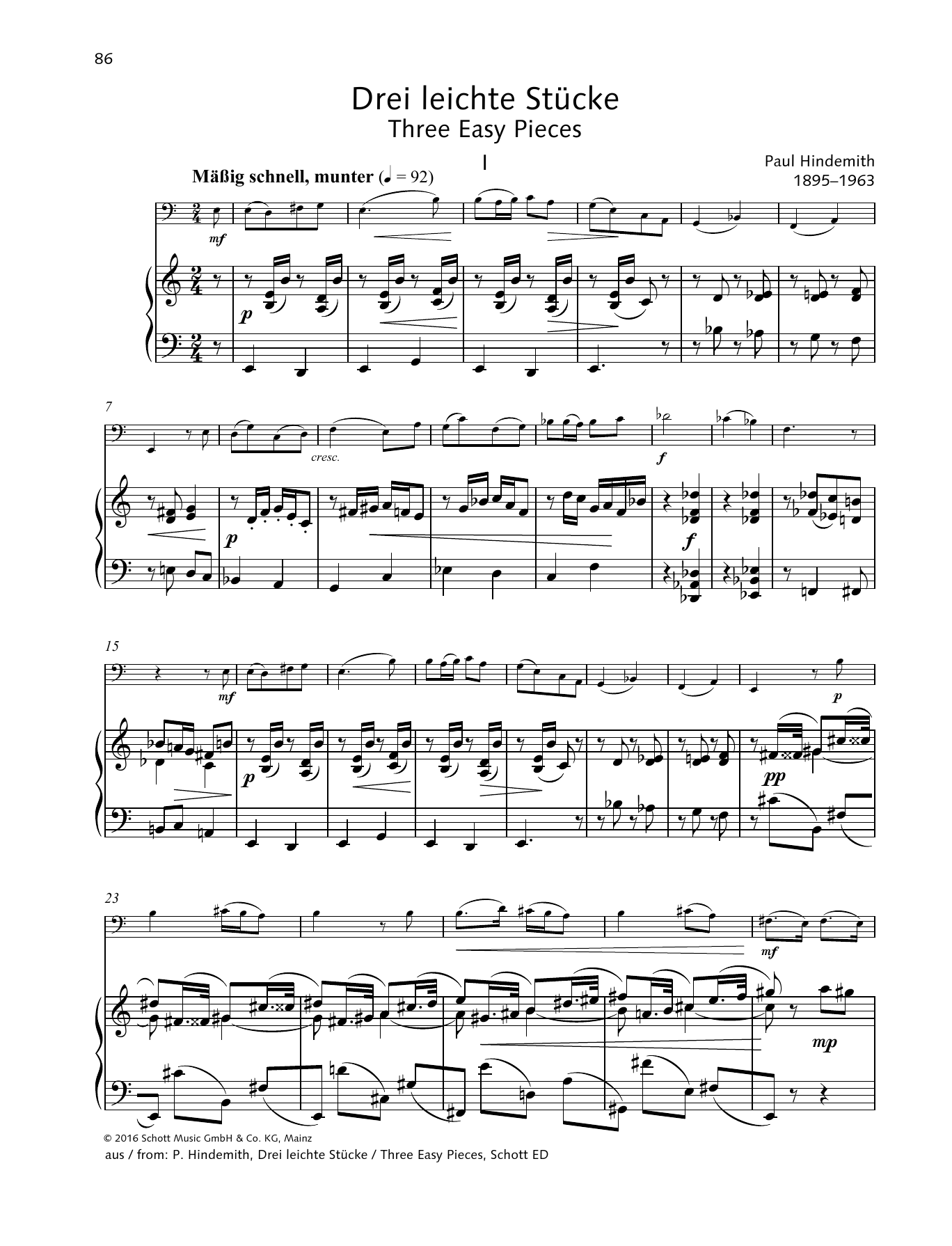 Three Easy Pieces Sheet Music